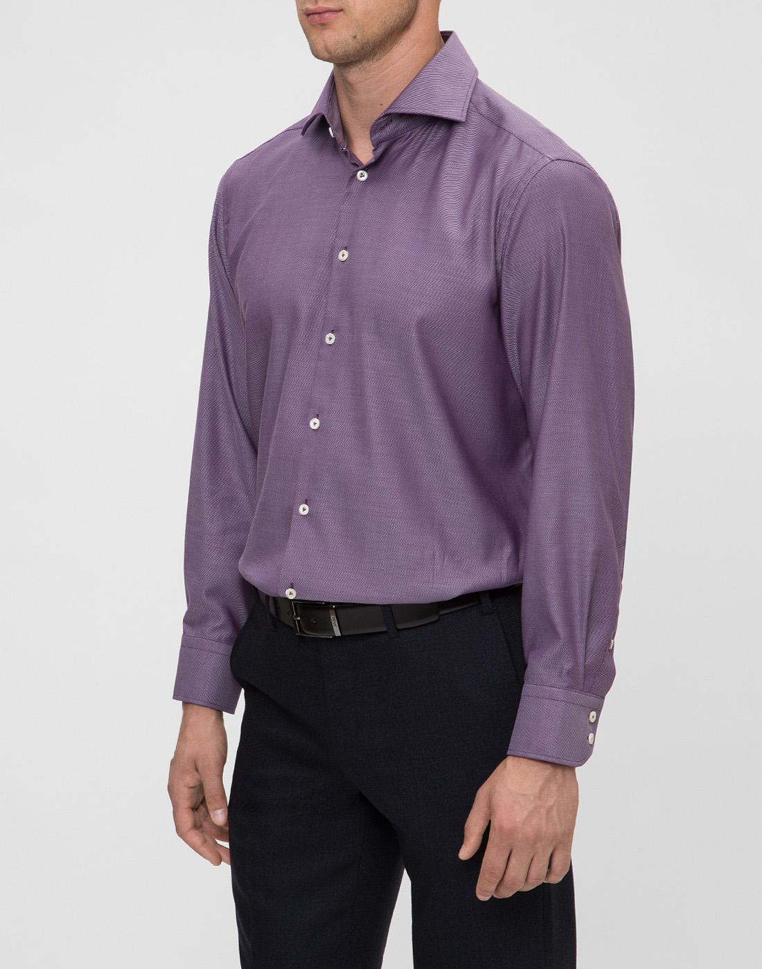 Мужская сиреневая рубашка Van Laack S151377/670-3