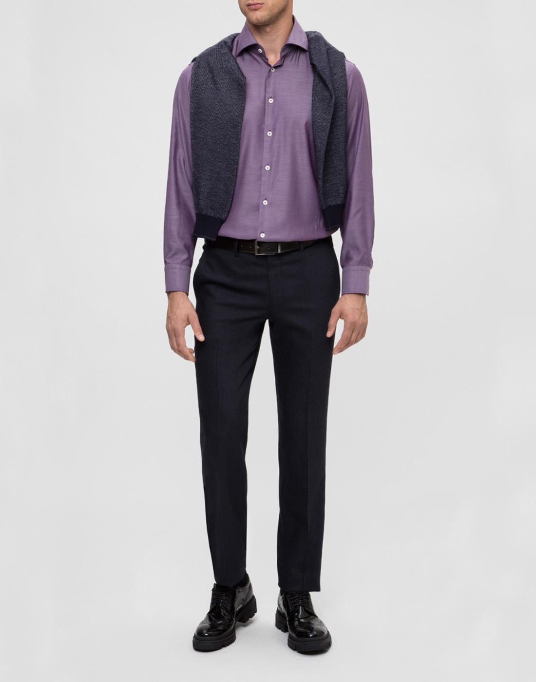 Мужская сиреневая рубашка Van Laack S151377/670-5