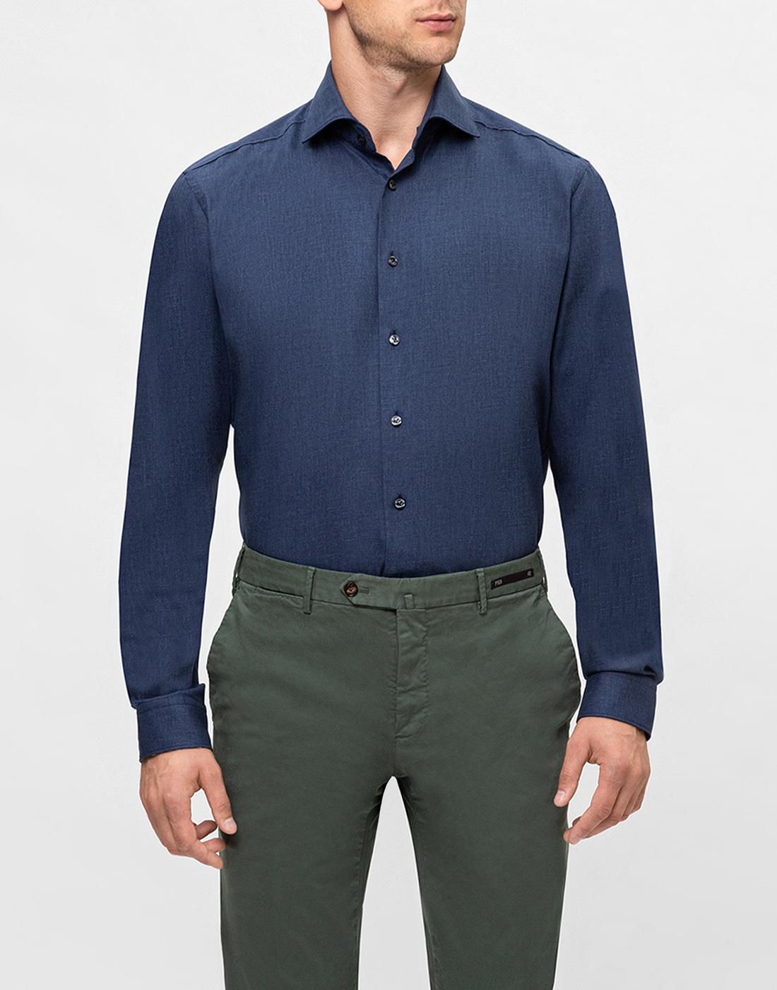 Мужская темно-синяя рубашка Van Laack S155026/780-2