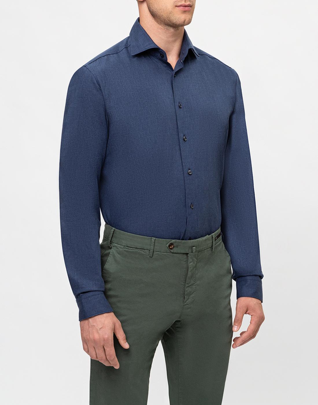Мужская темно-синяя рубашка Van Laack S155026/780-3