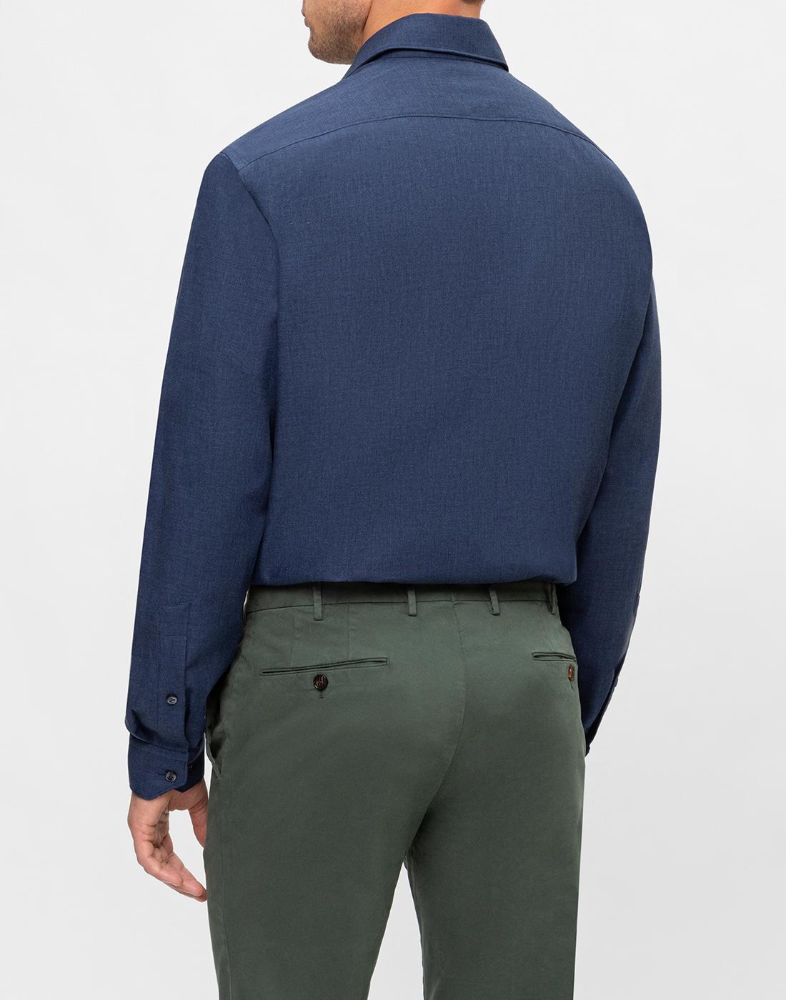 Мужская темно-синяя рубашка Van Laack S155026/780-4