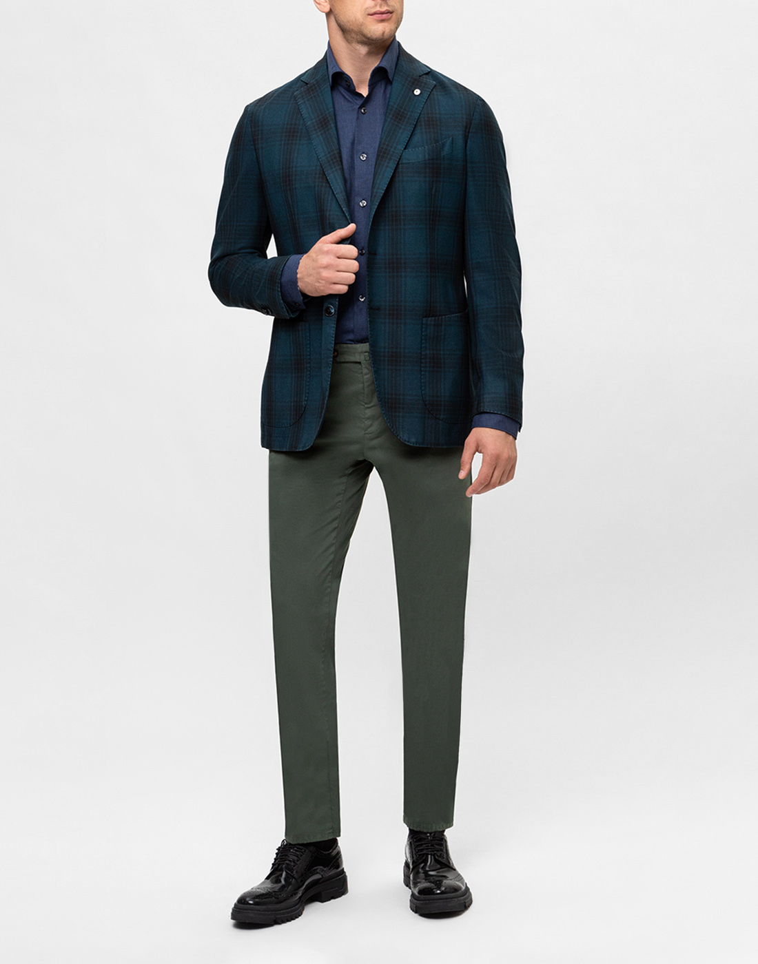 Мужская темно-синяя рубашка Van Laack S155026/780-5