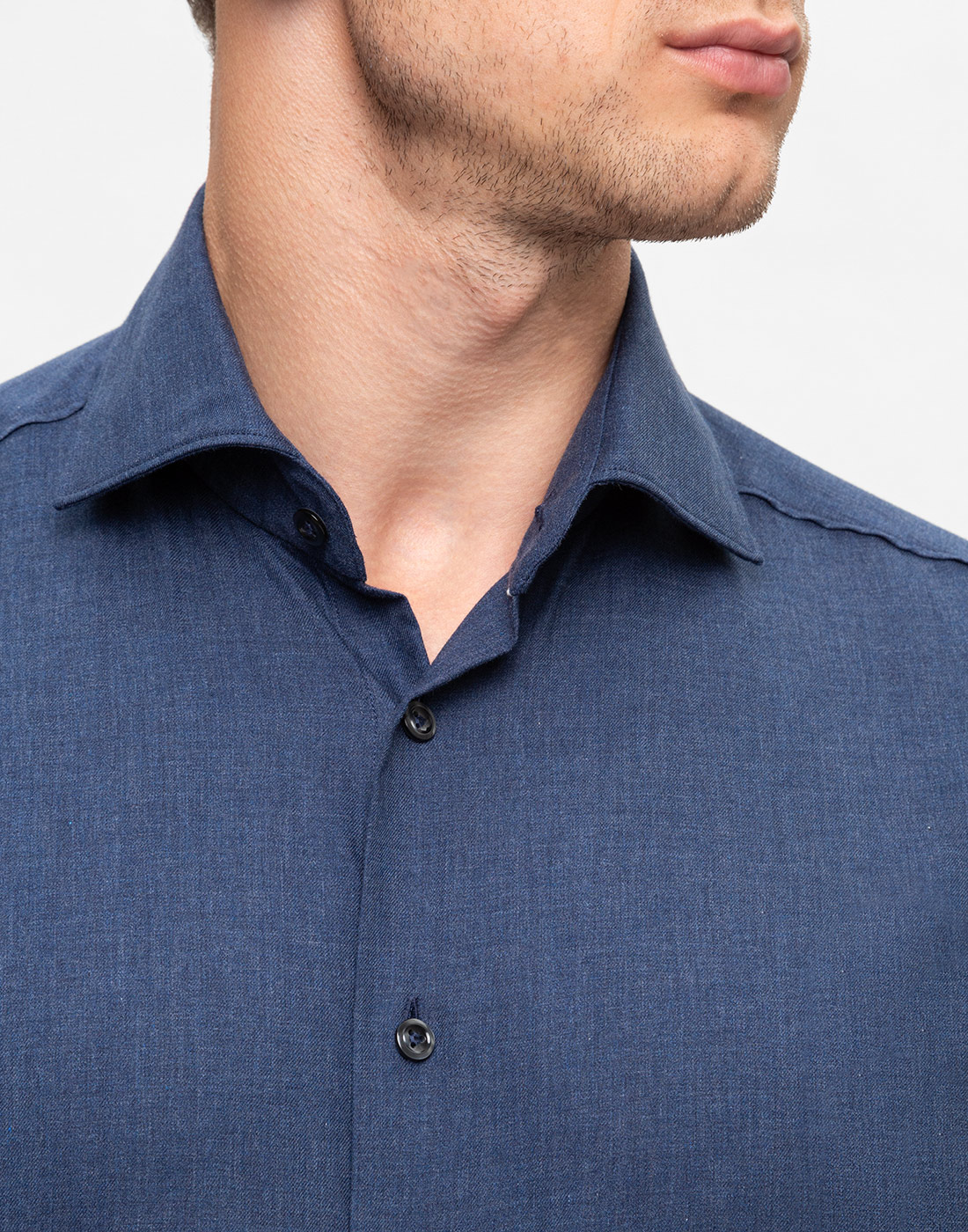 Мужская темно-синяя рубашка Van Laack S155026/780-6