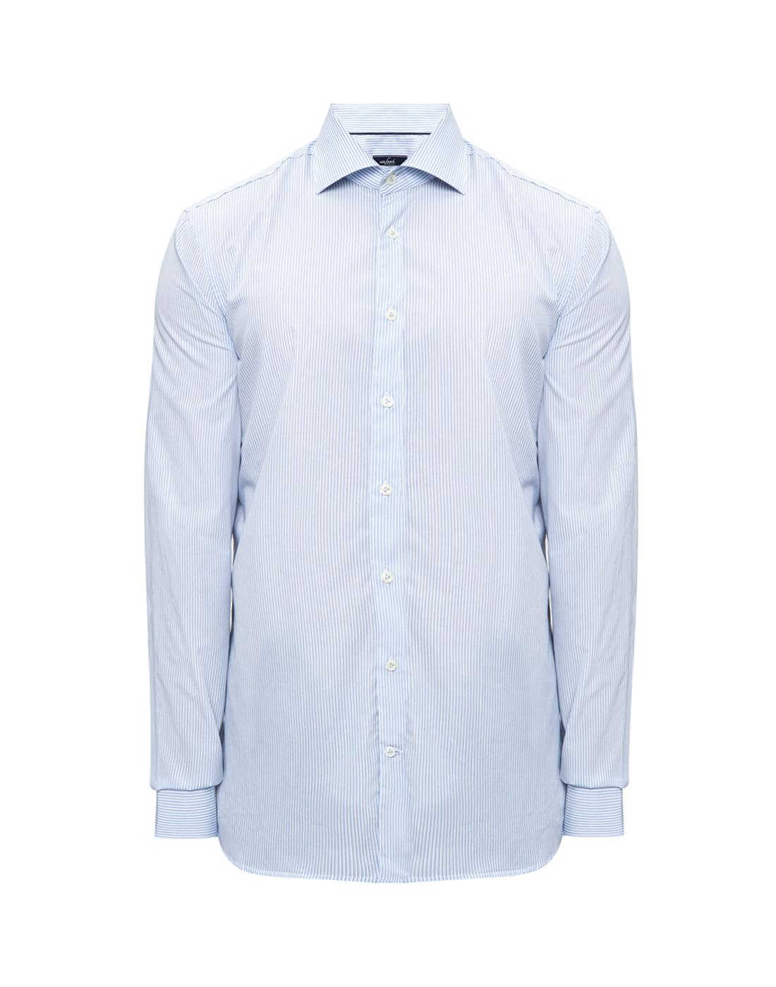 Мужская голубая рубашка в полоску Van Laack S151437/720-1