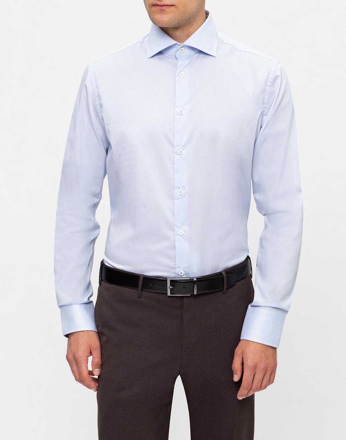 Мужская голубая рубашка в полоску Van Laack S132959/720-2