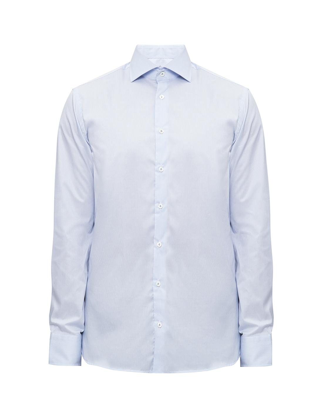 Мужская голубая рубашка в полоску Van Laack S132959/720-1