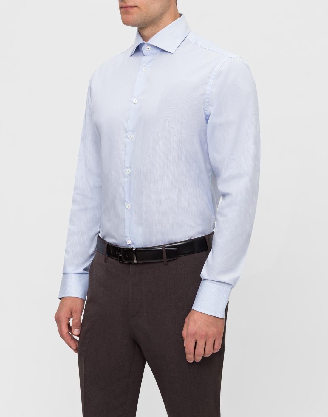 Мужская голубая рубашка в полоску Van Laack S132959/720-3