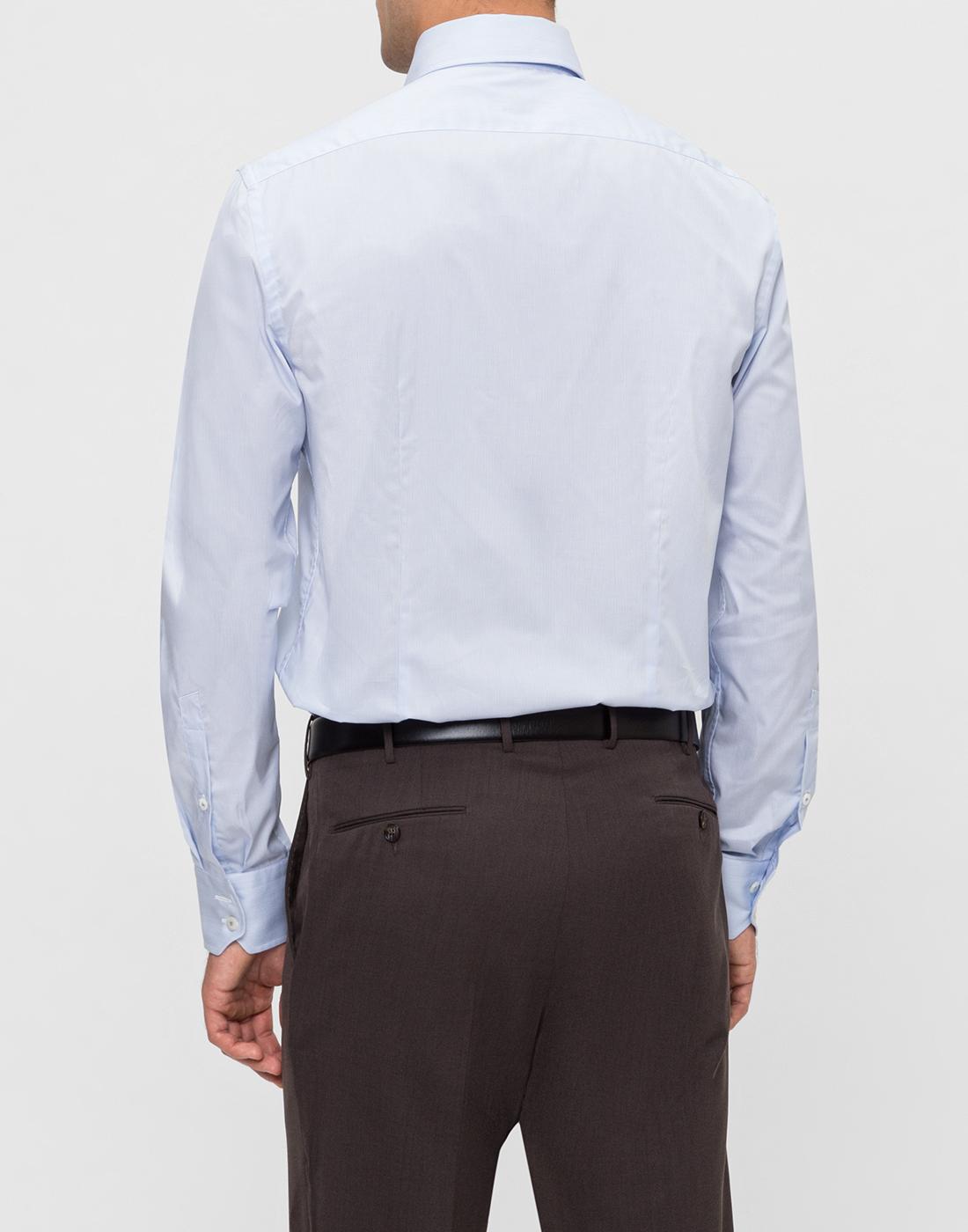 Мужская голубая рубашка в полоску Van Laack S132959/720-4