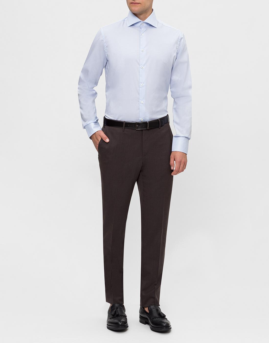 Мужская голубая рубашка в полоску Van Laack S132959/720-5