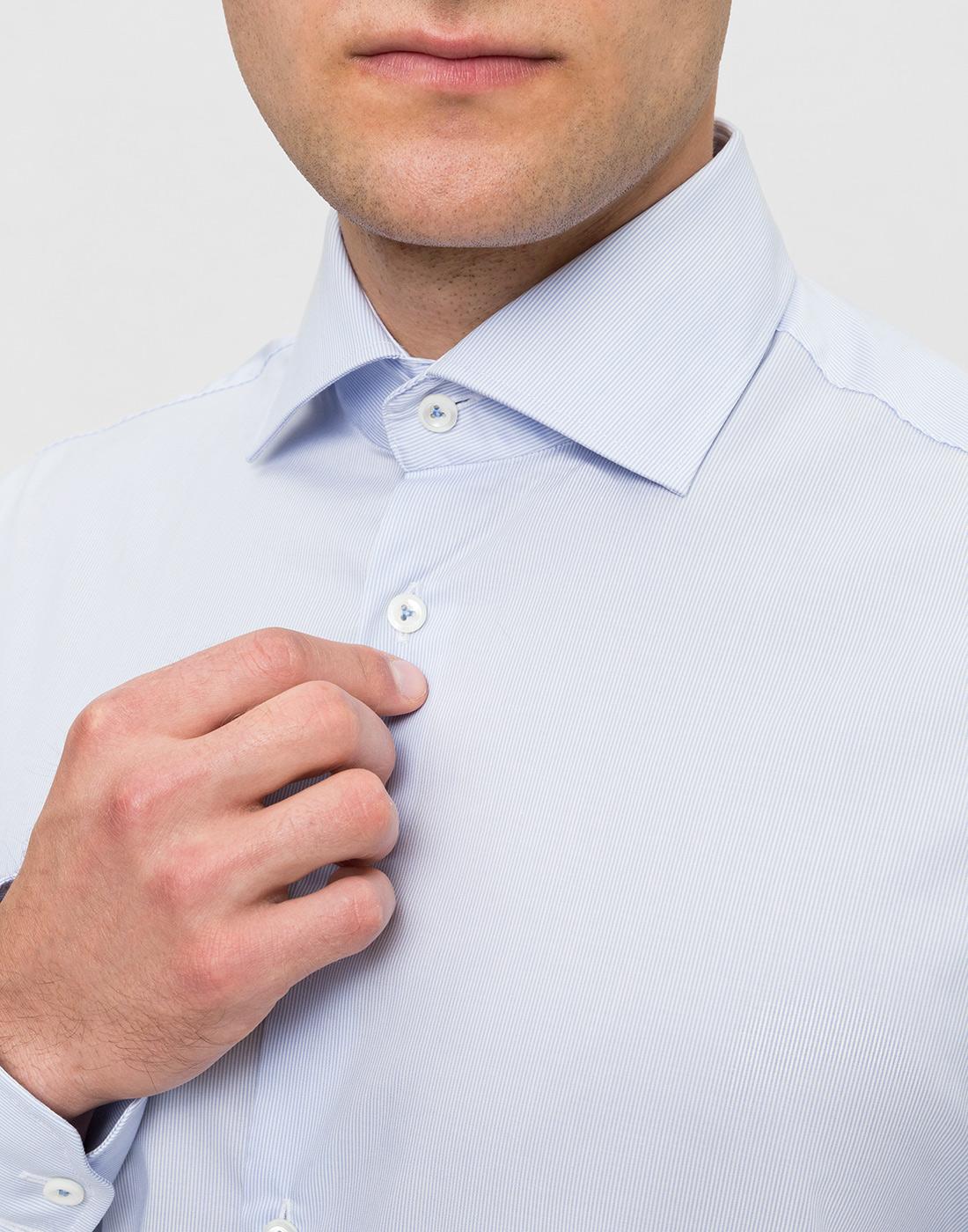 Мужская голубая рубашка в полоску Van Laack S132959/720-6