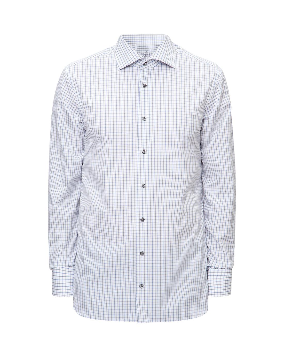 Мужская белая рубашка в клетку Van Laack S151714/007-1
