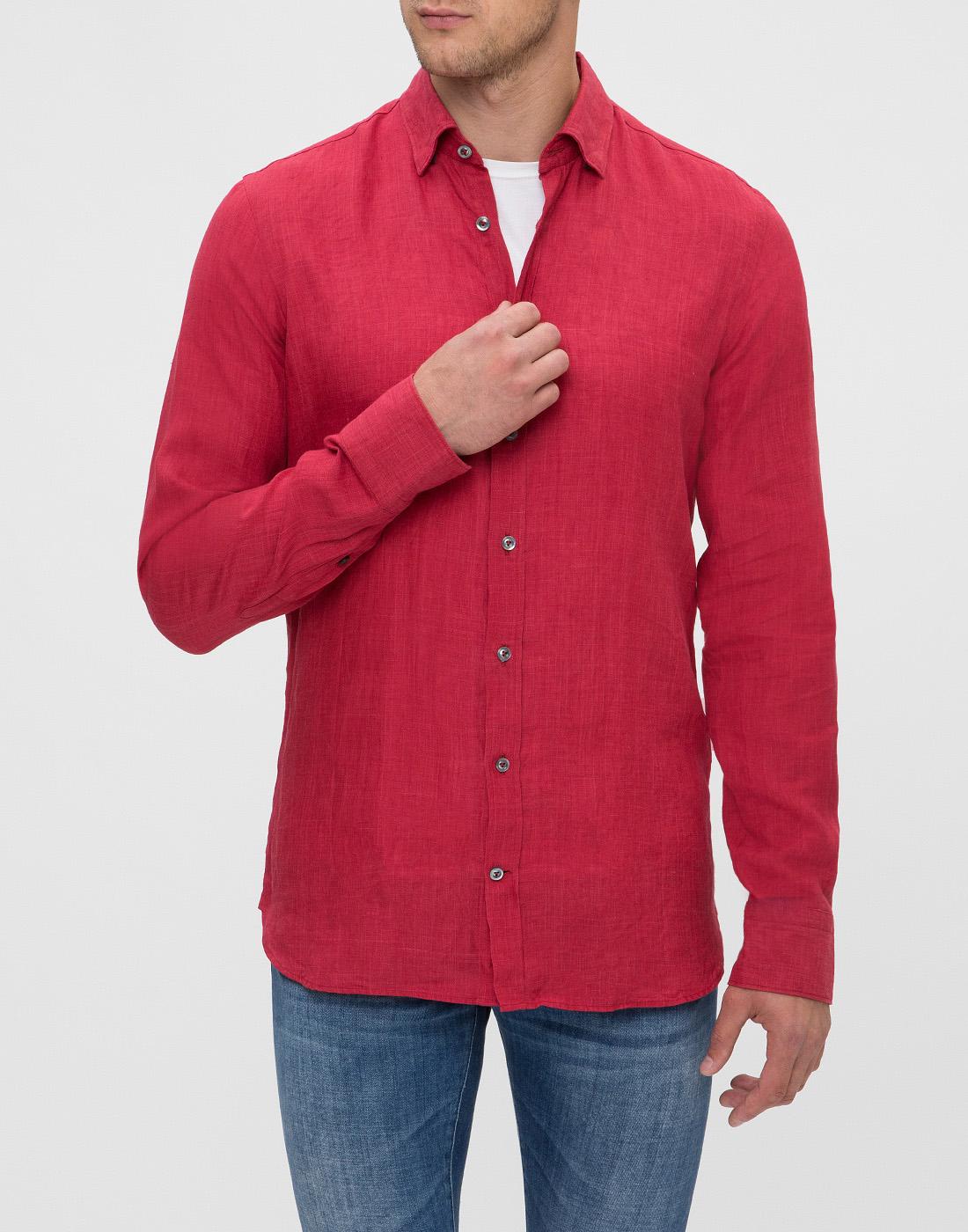 Мужская красная рубашка Van Laack S155315/570-2