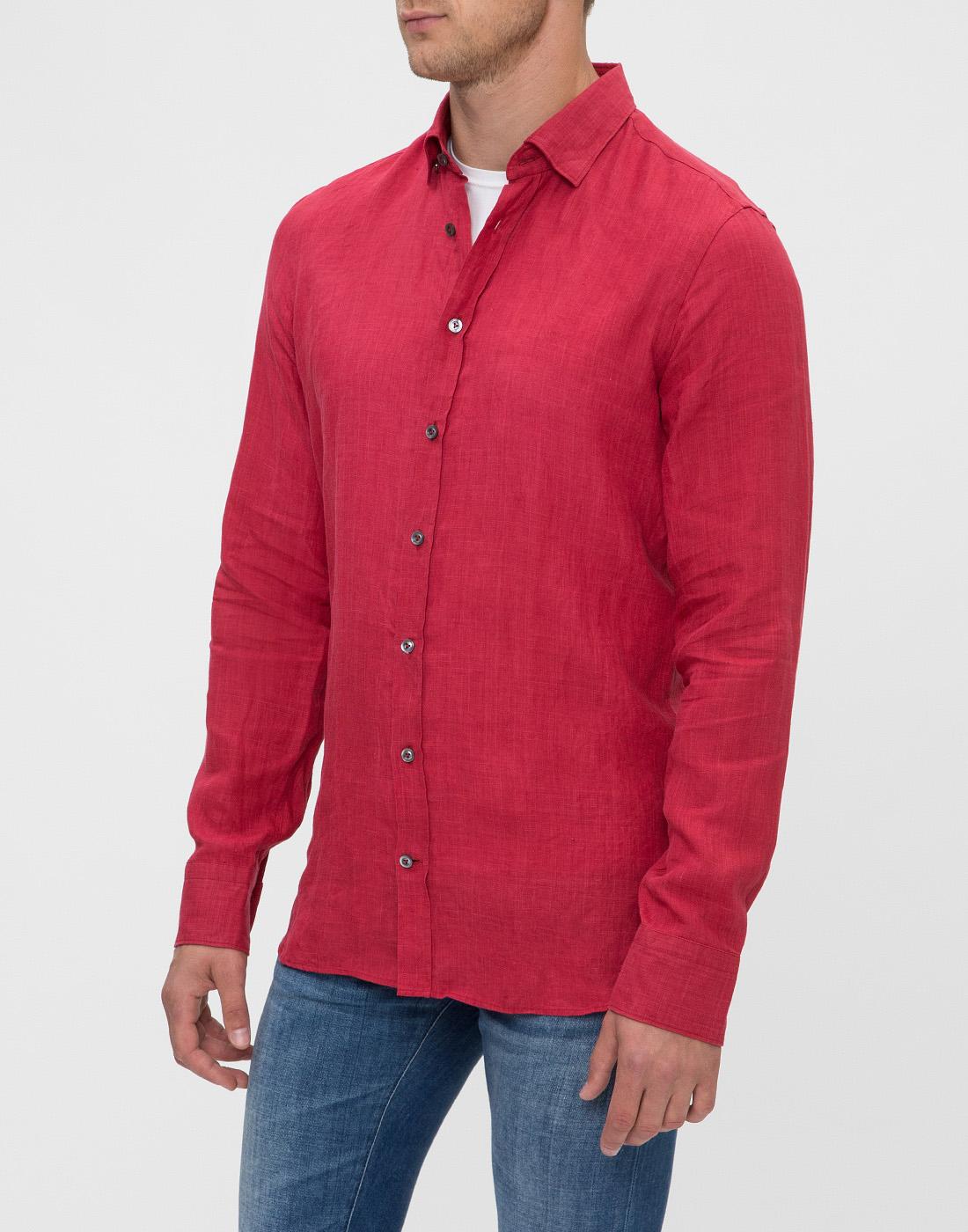 Мужская красная рубашка Van Laack S155315/570-3