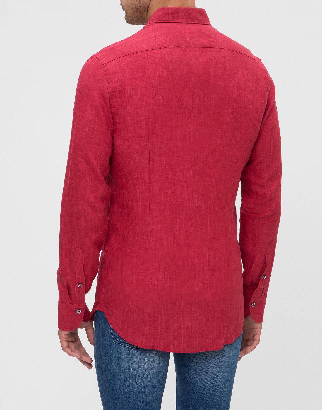 Мужская красная рубашка Van Laack S155315/570-4