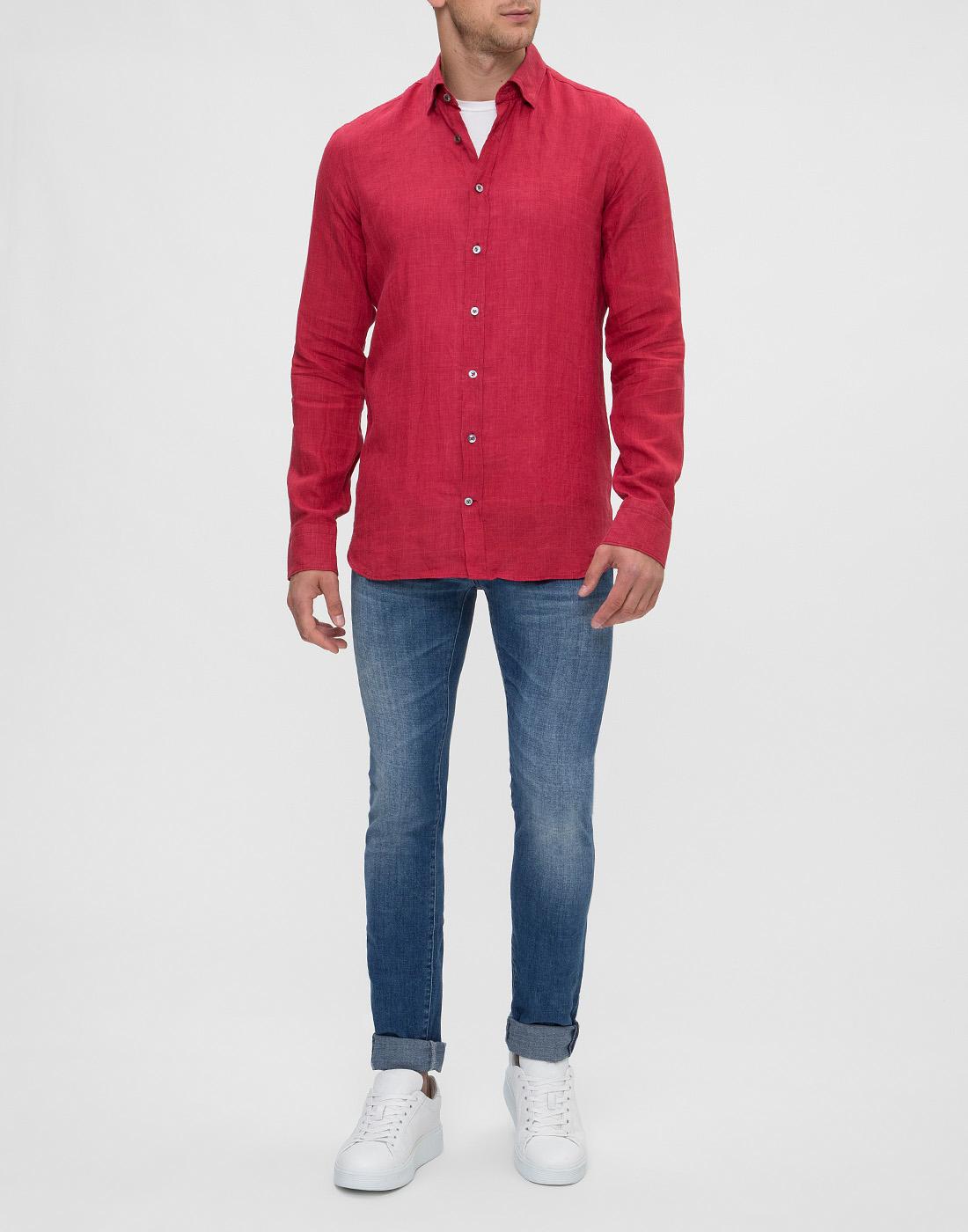 Мужская красная рубашка Van Laack S155315/570-5