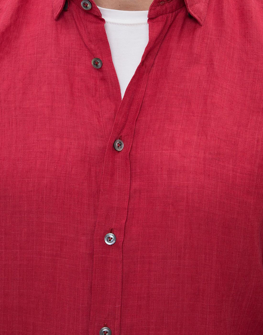 Мужская красная рубашка Van Laack S155315/570-6