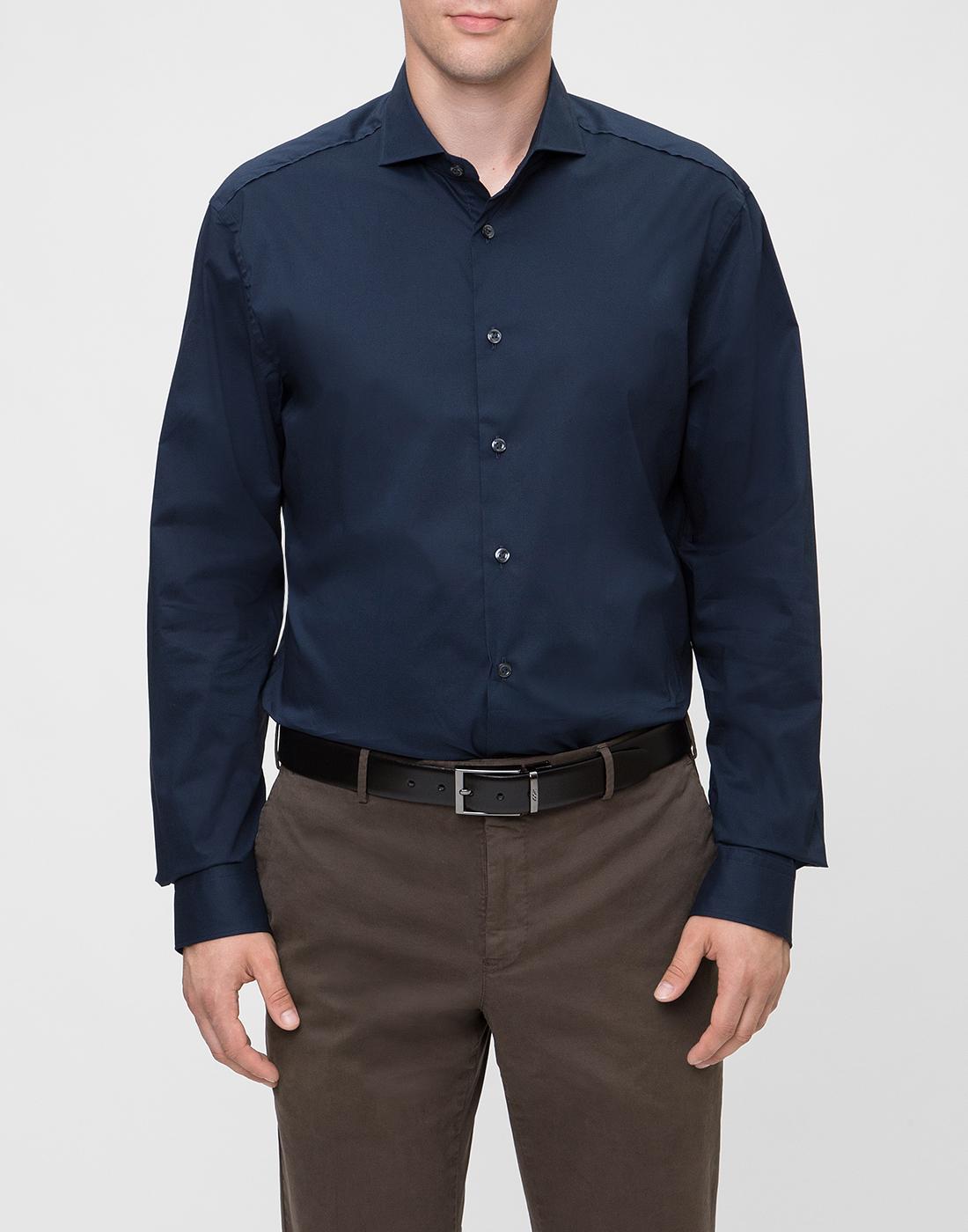 Мужская темно-синяя рубашка Van Laack S130050/790-2