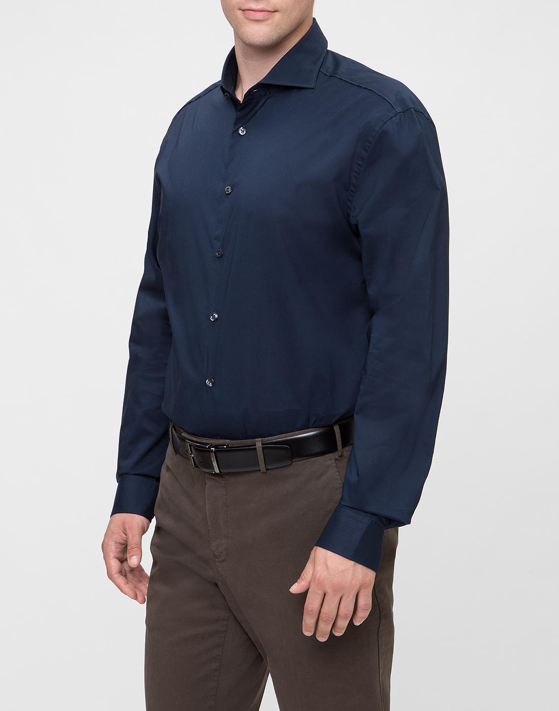 Мужская темно-синяя рубашка Van Laack S130050/790-3