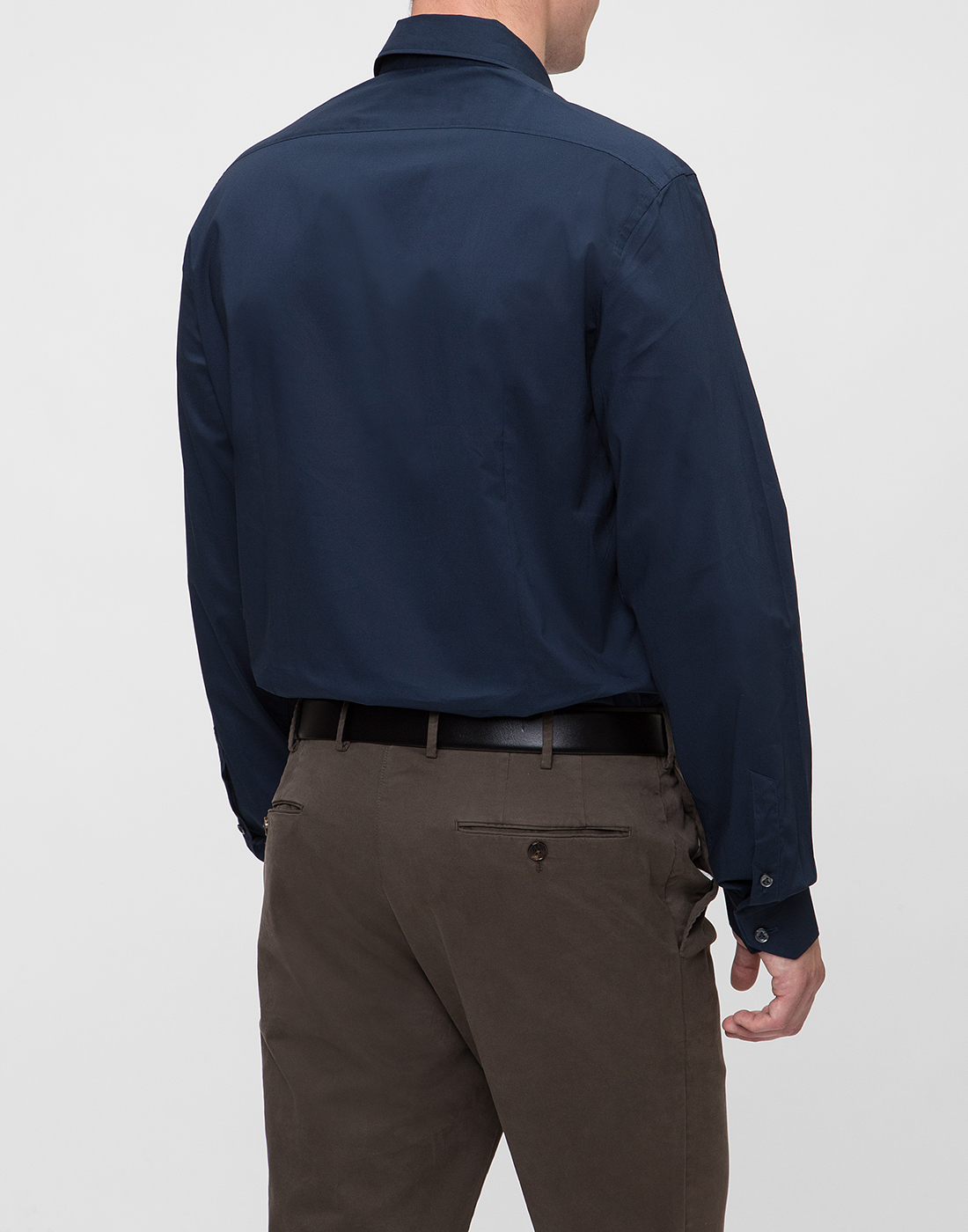 Мужская темно-синяя рубашка Van Laack S130050/790-4