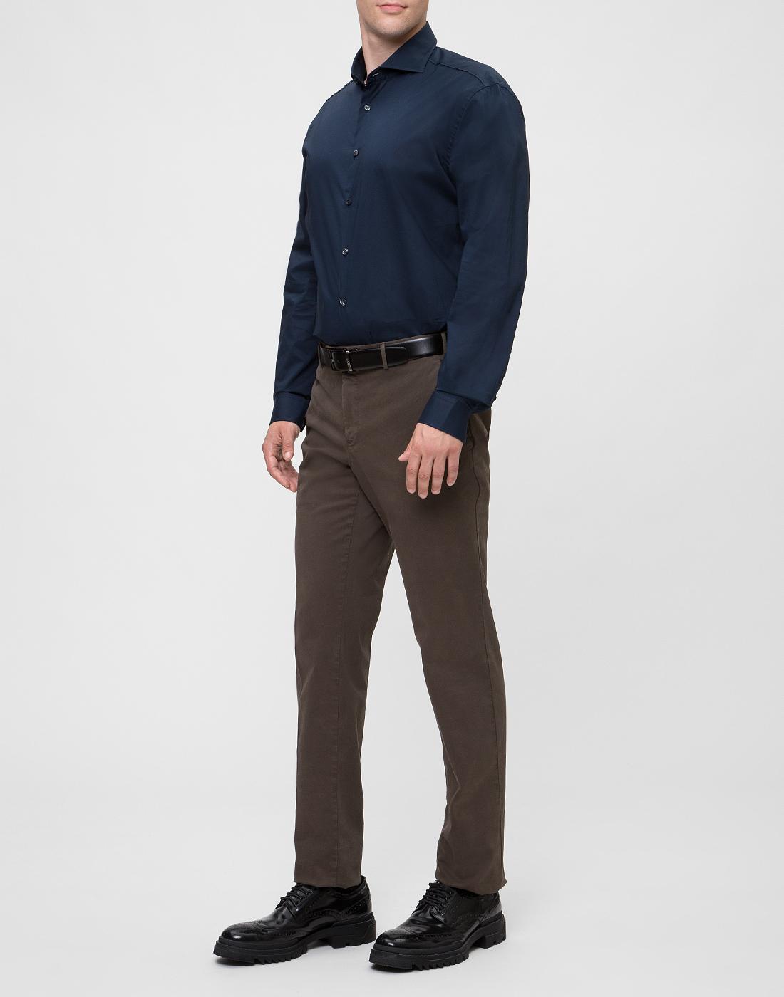 Мужская темно-синяя рубашка Van Laack S130050/790-5