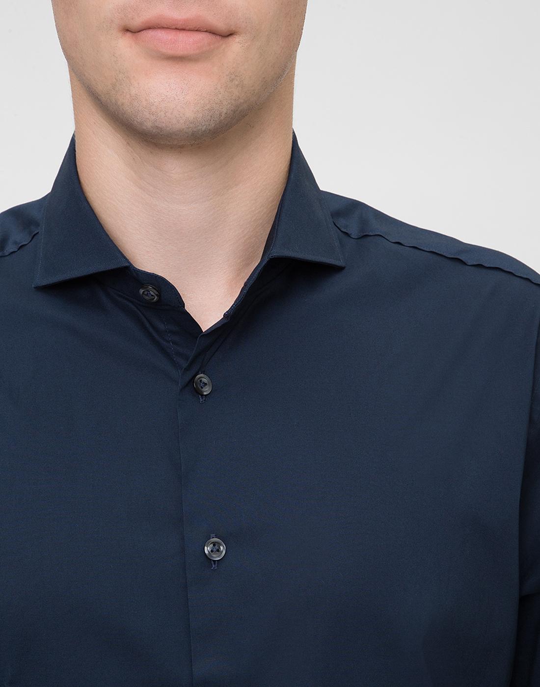 Мужская темно-синяя рубашка Van Laack S130050/790-6