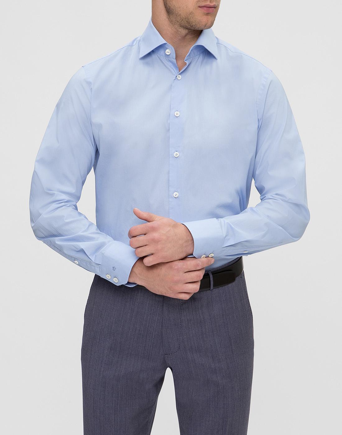 Мужская голубая рубашка Van Laack S130090/720-2