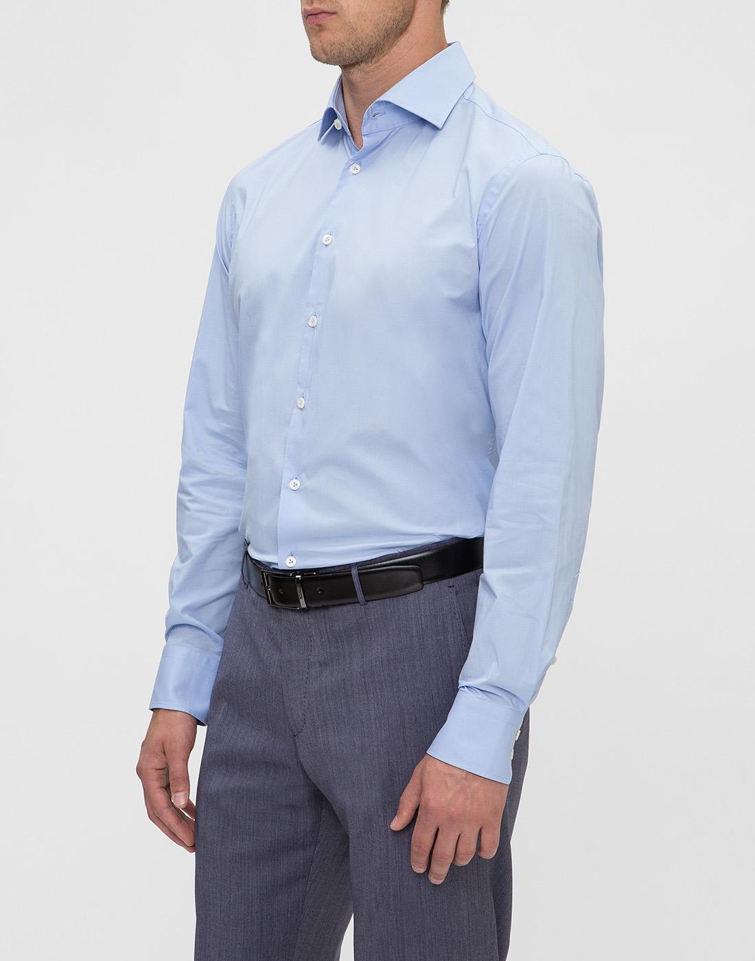Мужская голубая рубашка Van Laack S130090/720-3
