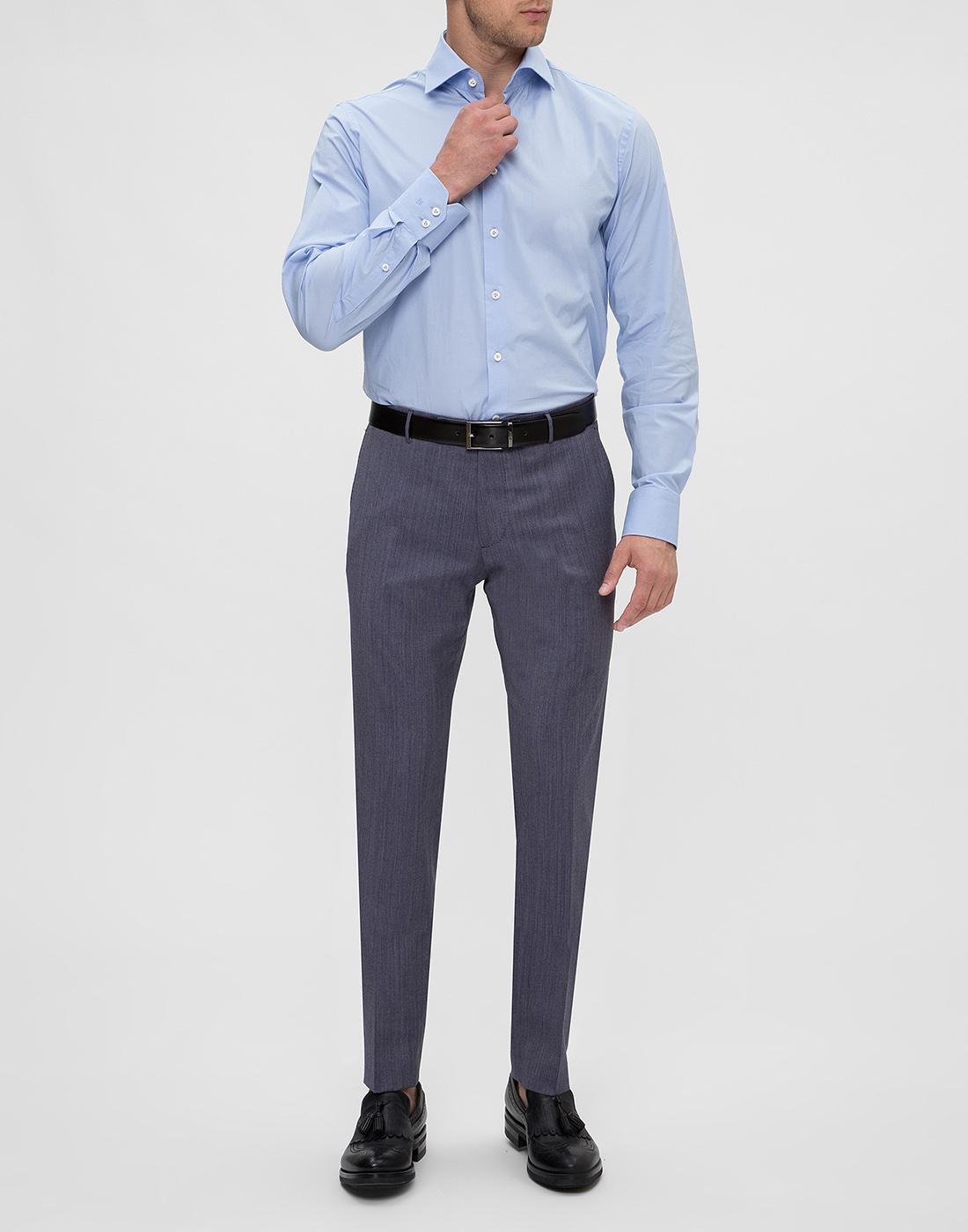 Мужская голубая рубашка Van Laack S130090/720-5