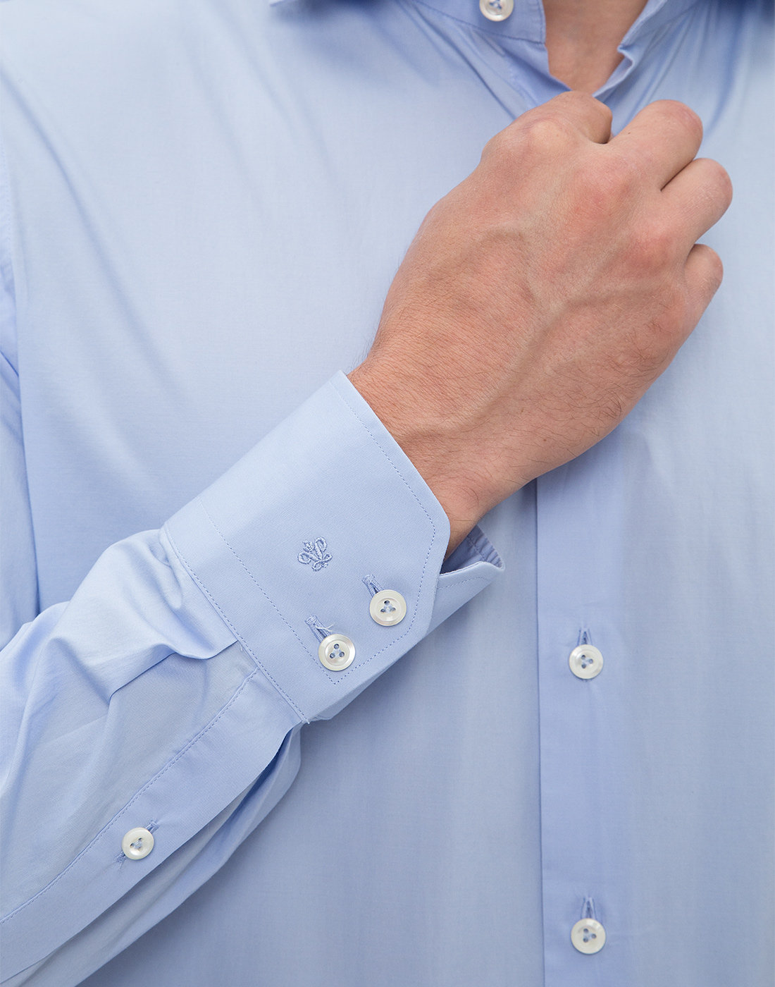 Мужская голубая рубашка Van Laack S130090/720-6