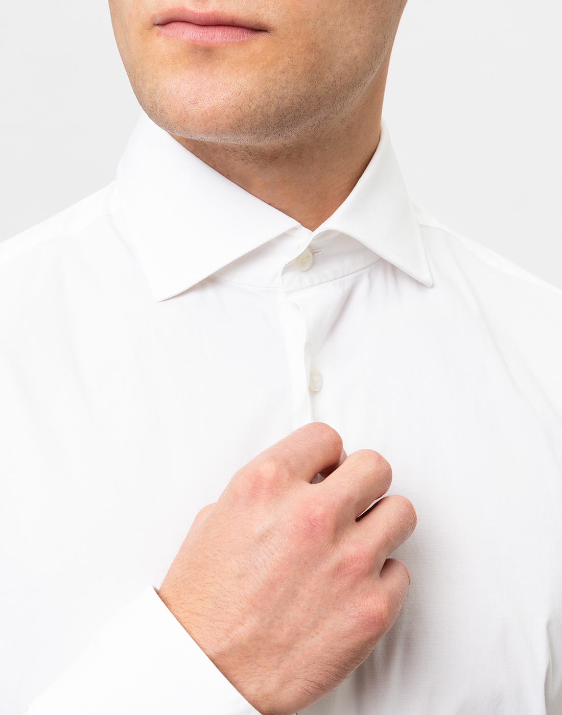 Мужская белая рубашка Van Laack S130090/000-6