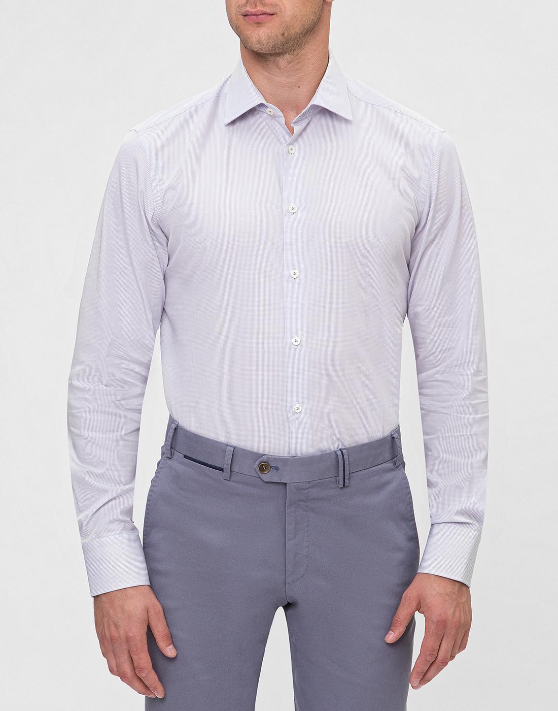 Мужская сиреневая рубашка Van Laack S163209/020-2