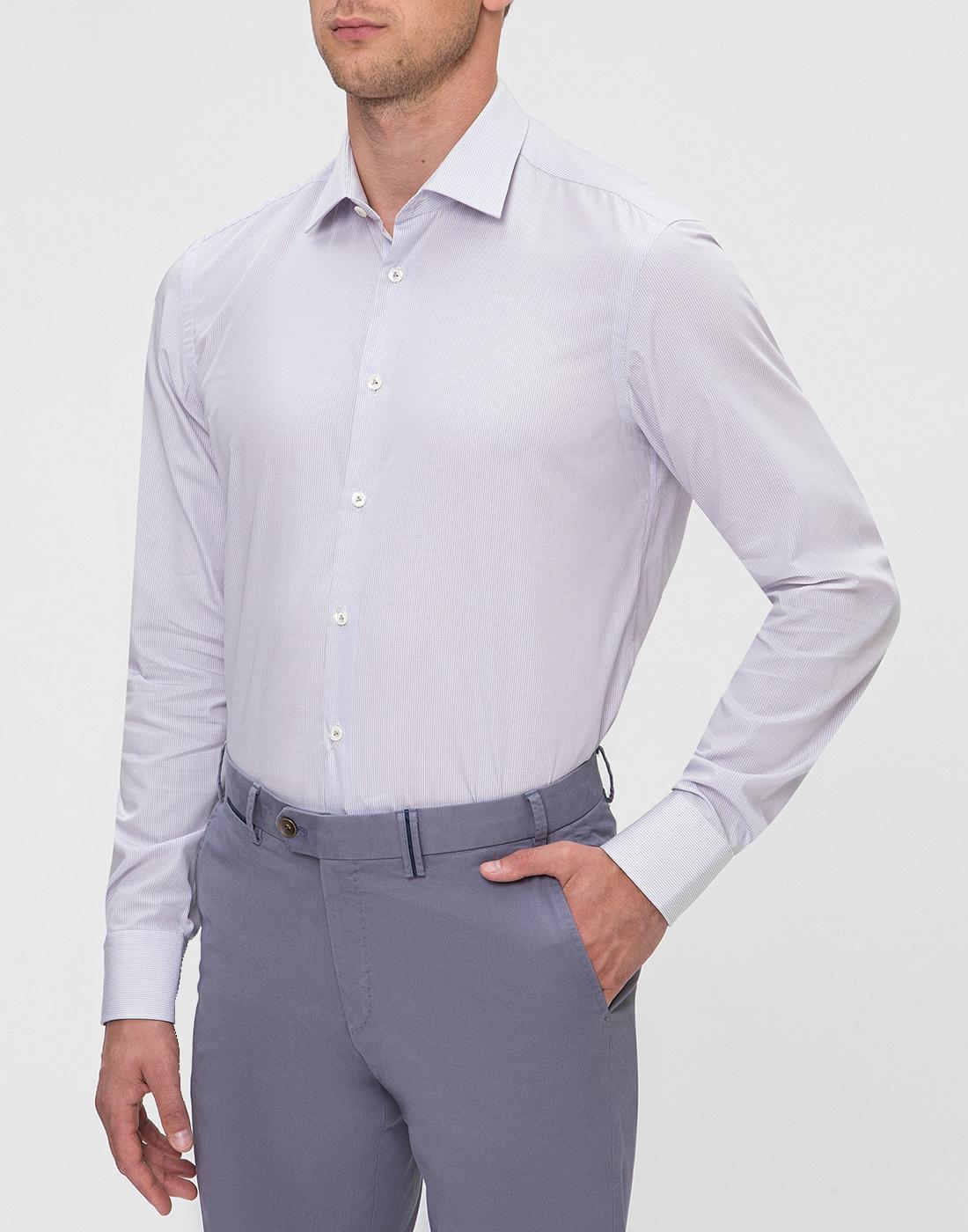 Мужская сиреневая рубашка Van Laack S163209/020-3
