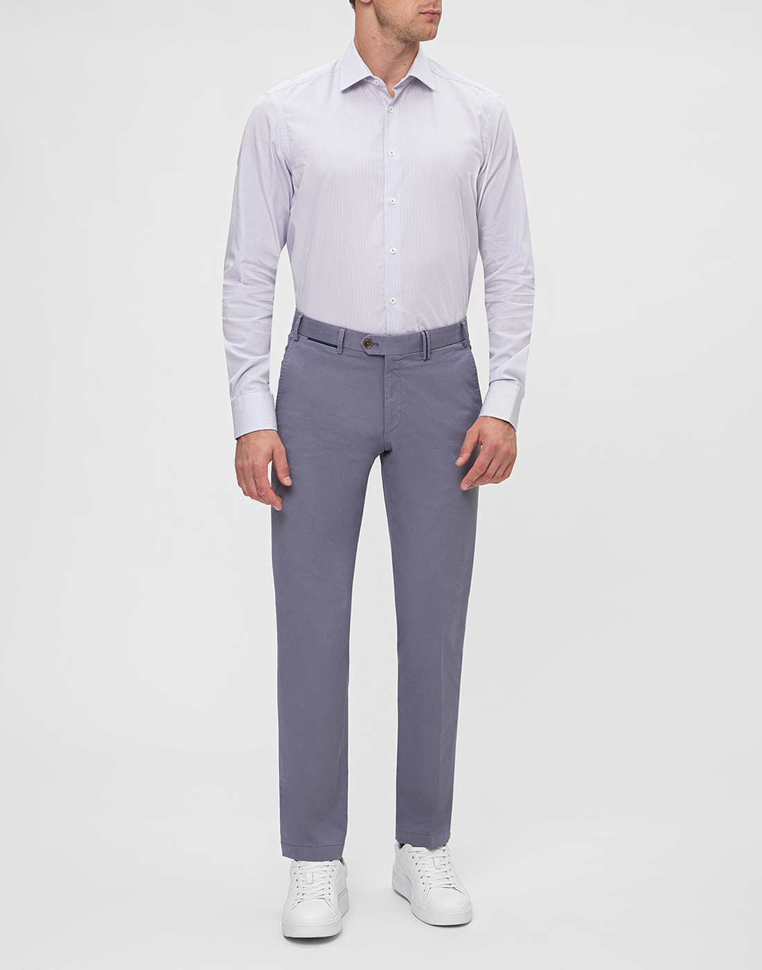 Мужская сиреневая рубашка Van Laack S163209/020-5
