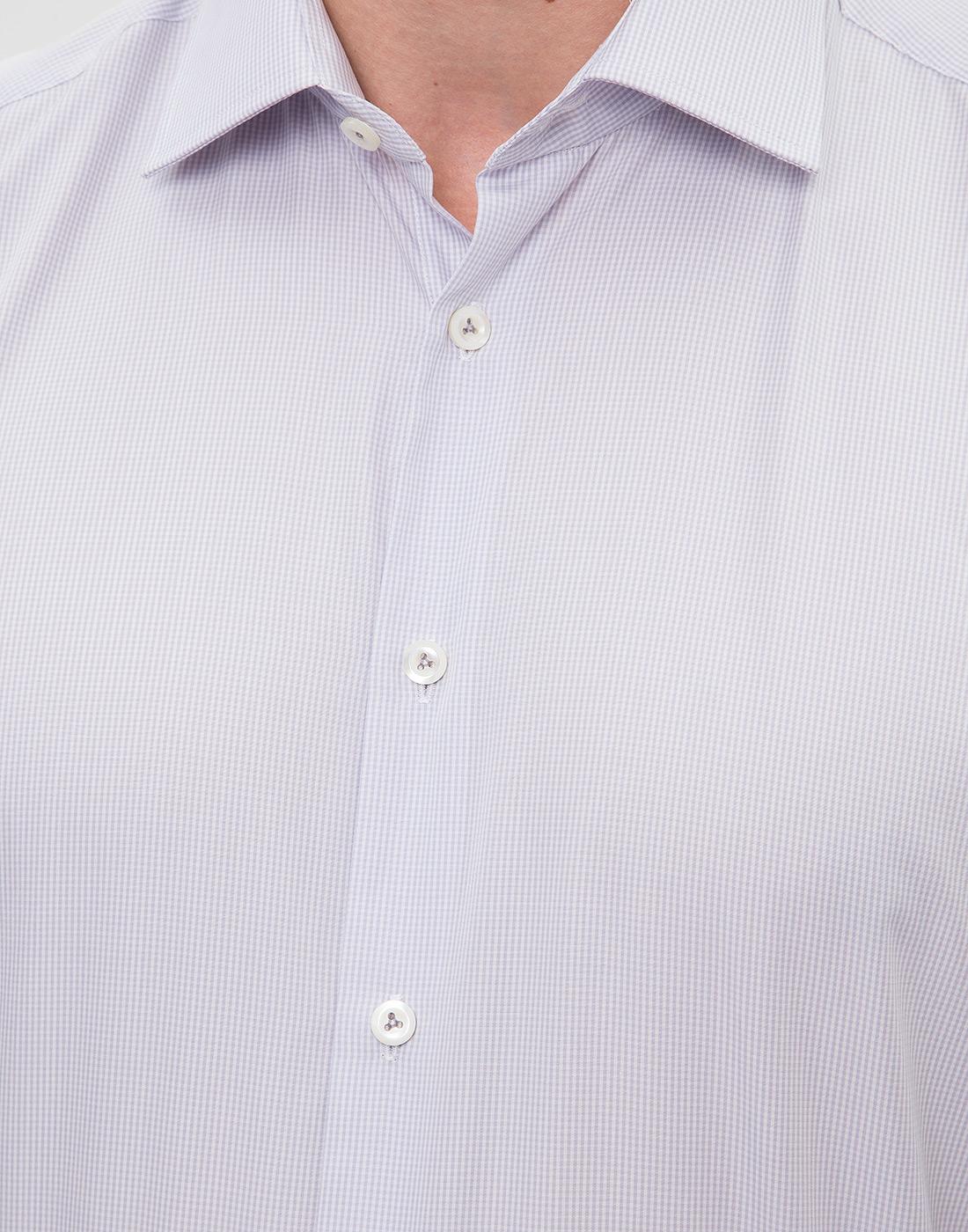Мужская сиреневая рубашка Van Laack S163209/020-6