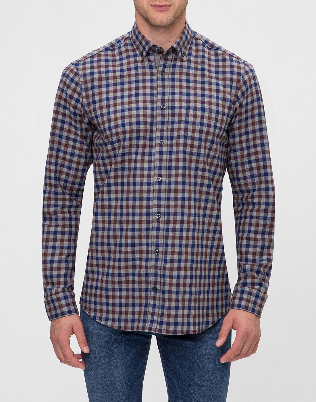Мужская рубашка в клетку Van Laack S156193/780-2