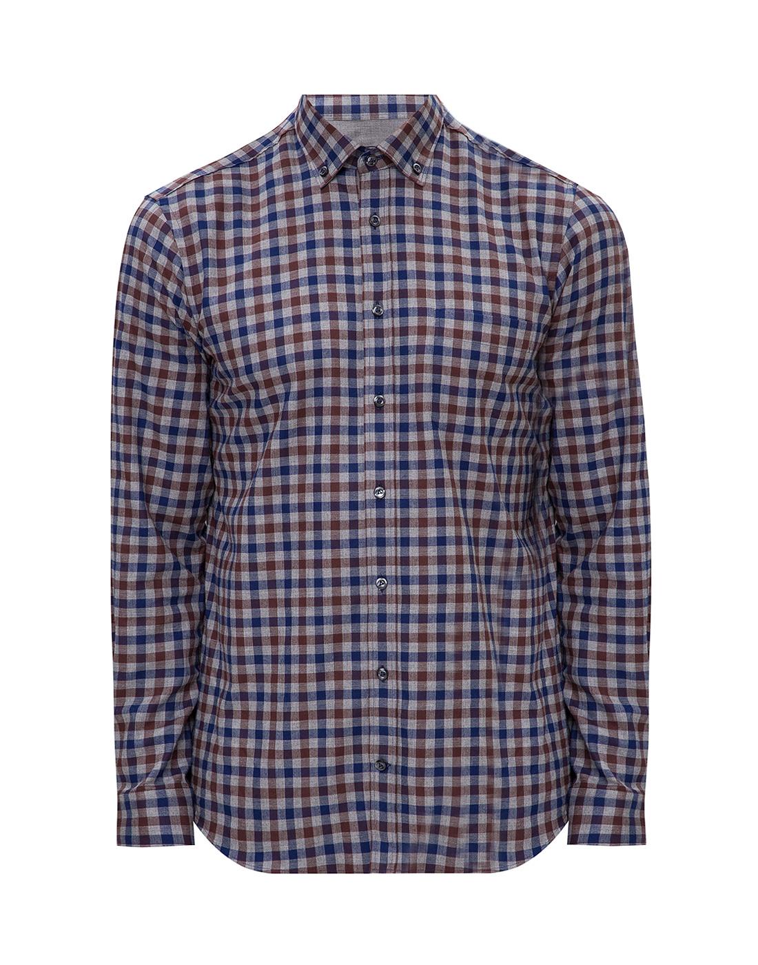 Мужская рубашка в клетку Van Laack S156193/780-1