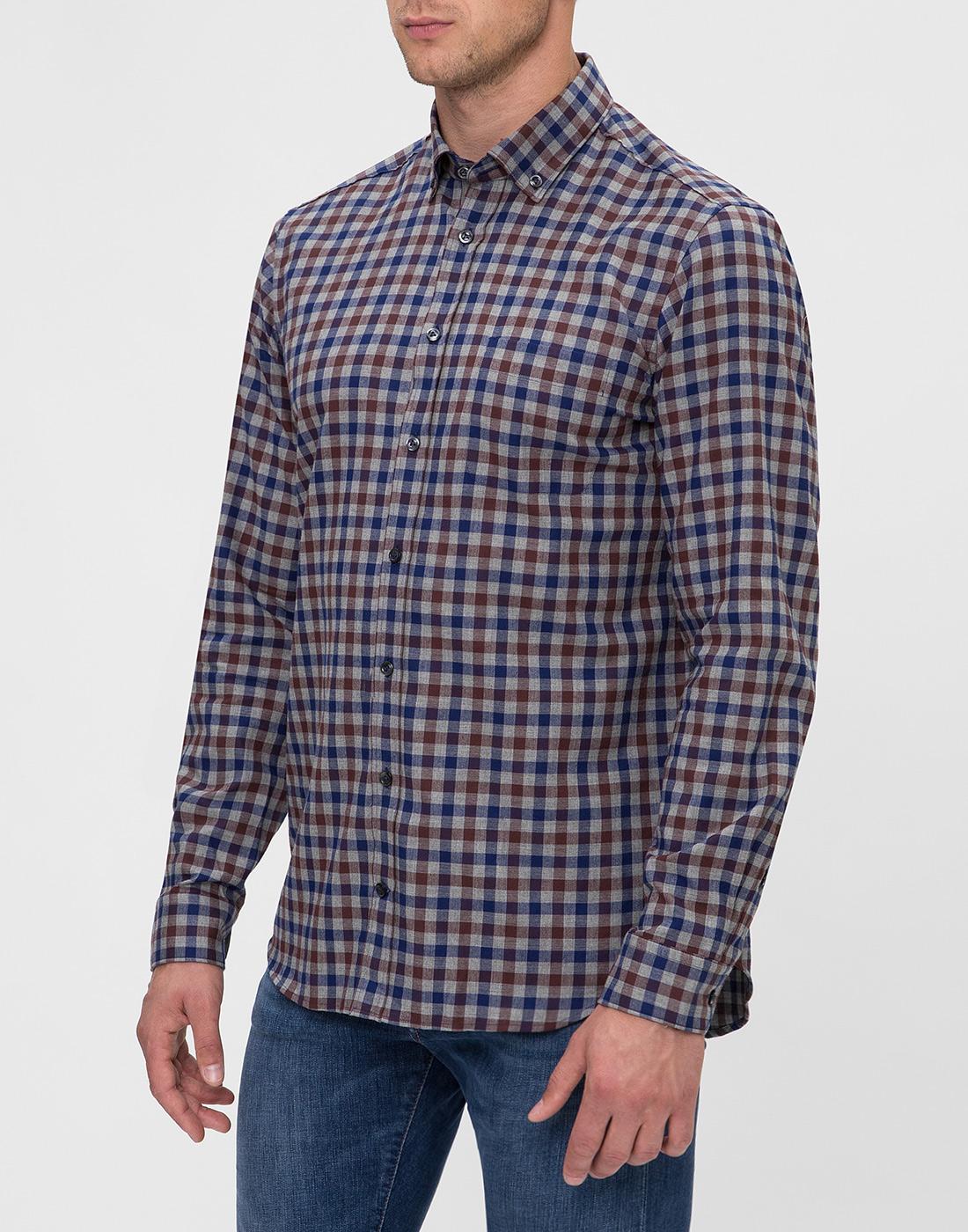 Мужская рубашка в клетку Van Laack S156193/780-3