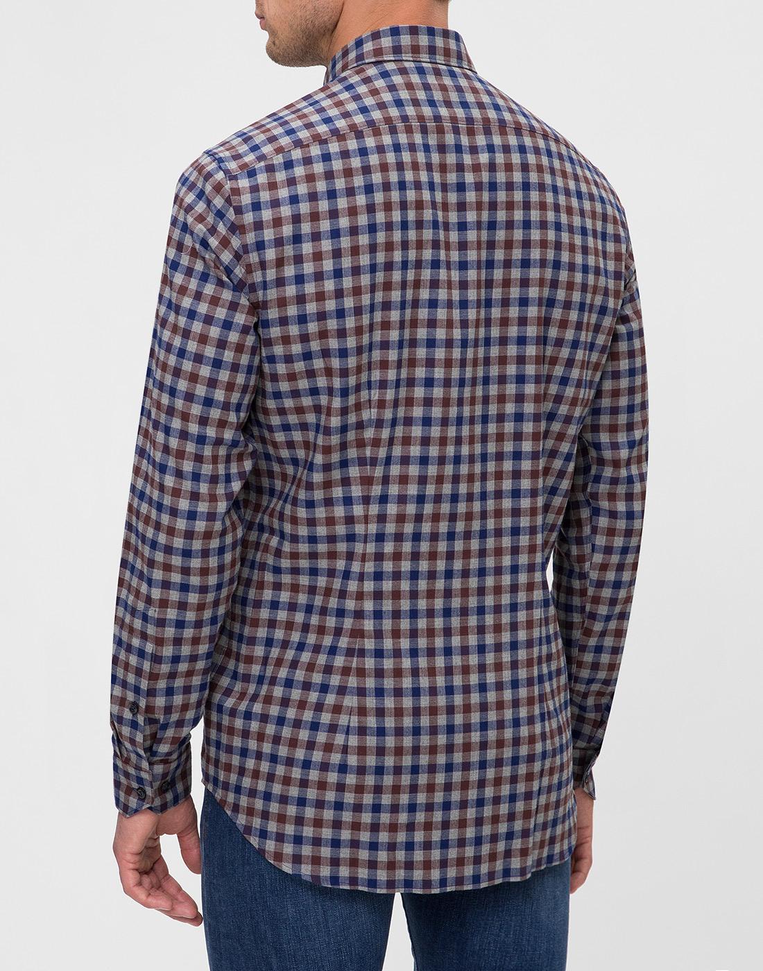 Мужская рубашка в клетку Van Laack S156193/780-4