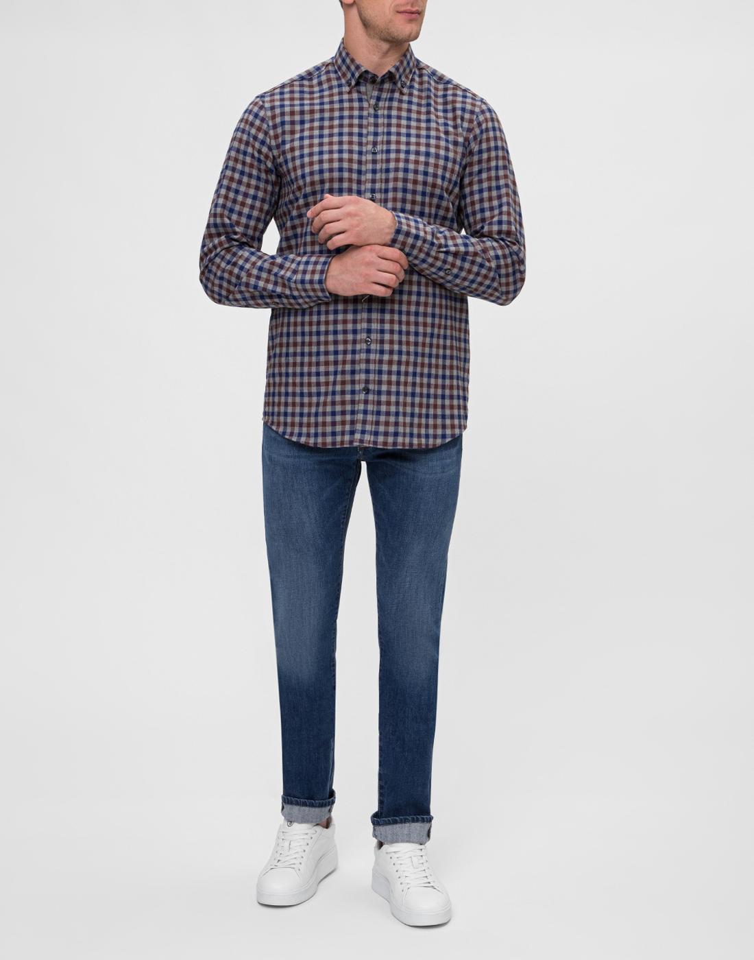 Мужская рубашка в клетку Van Laack S156193/780-5