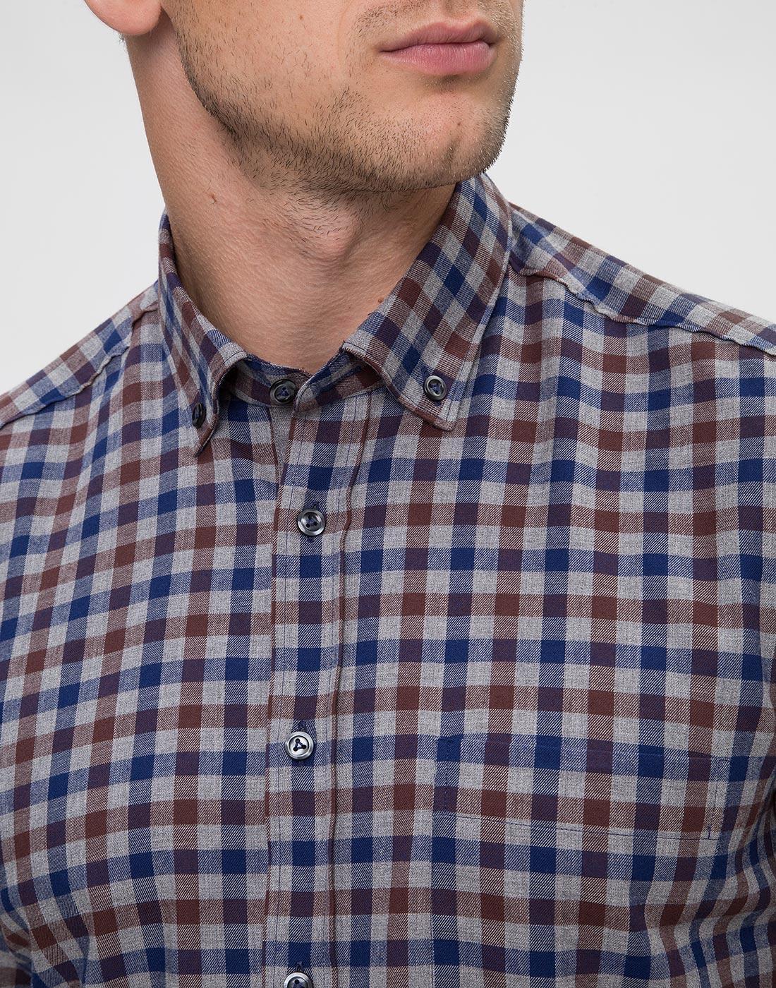 Мужская рубашка в клетку Van Laack S156193/780-6