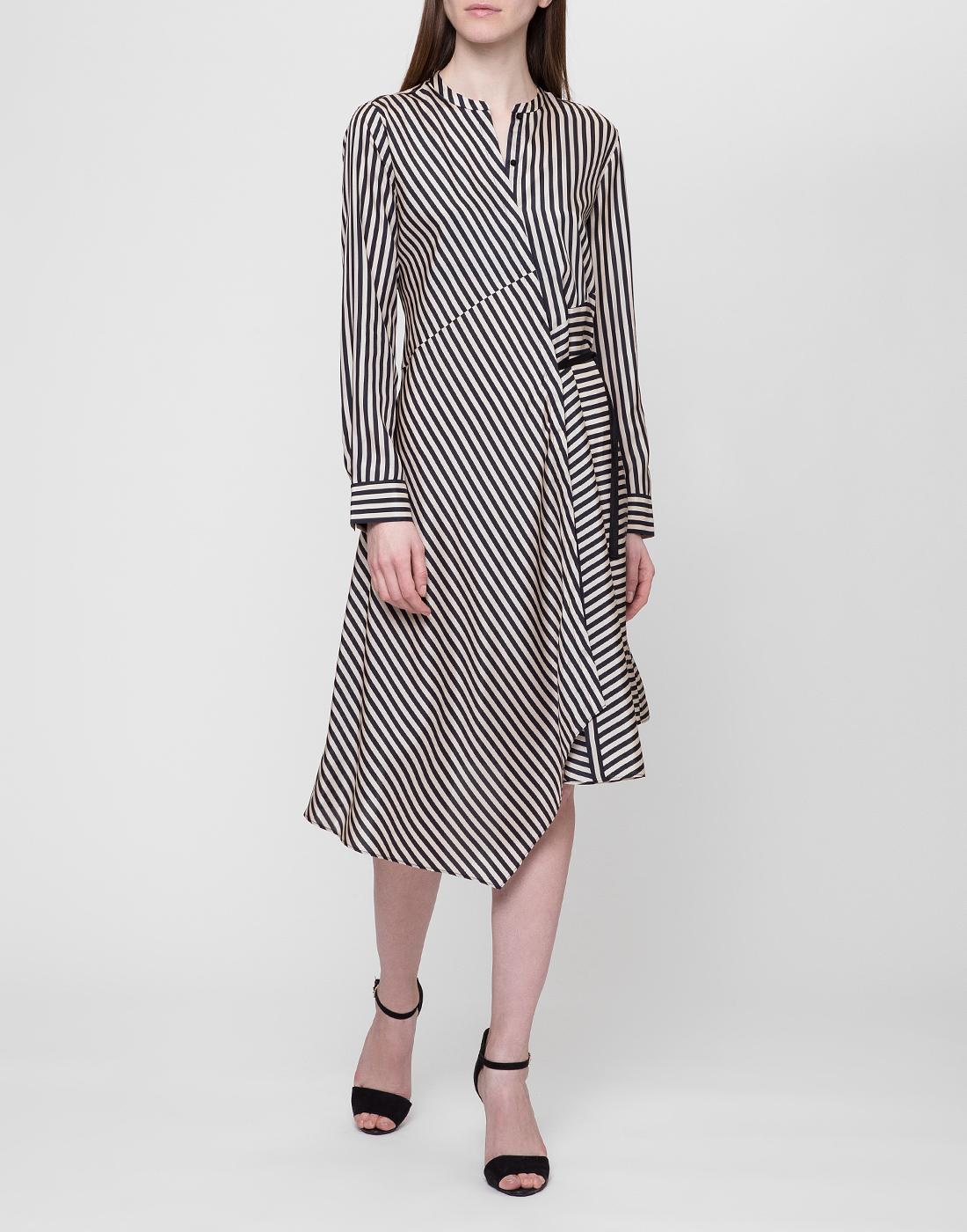Женское шелковое платье в полоску Dorothee Schumacher S749201/030-2