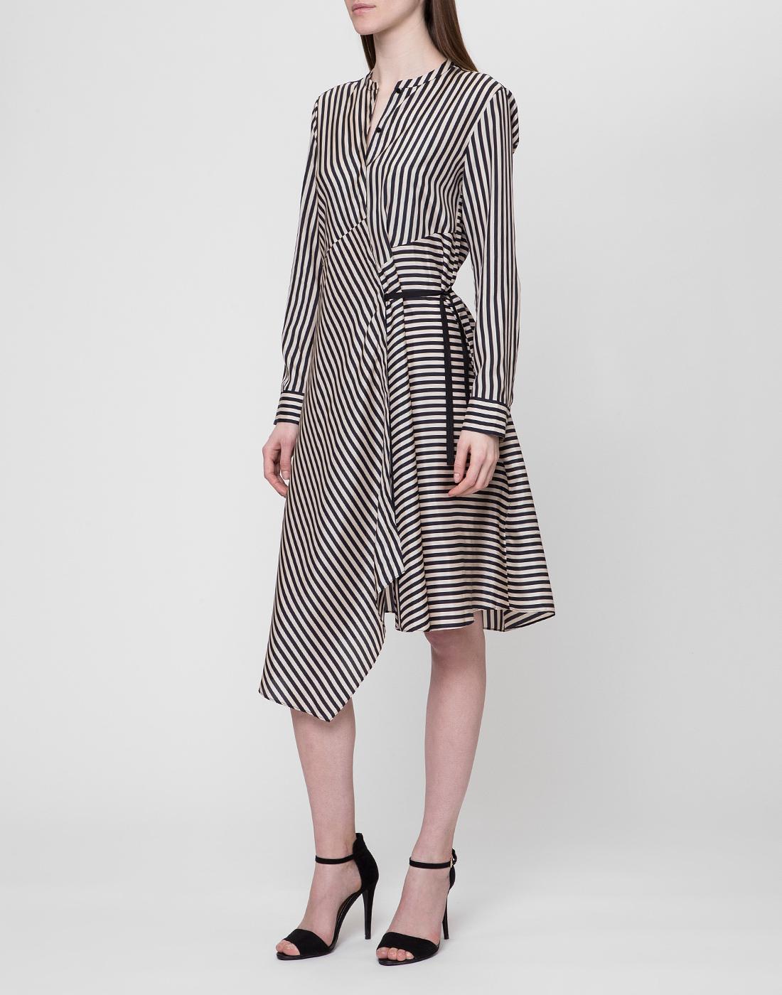 Женское шелковое платье в полоску Dorothee Schumacher S749201/030-3