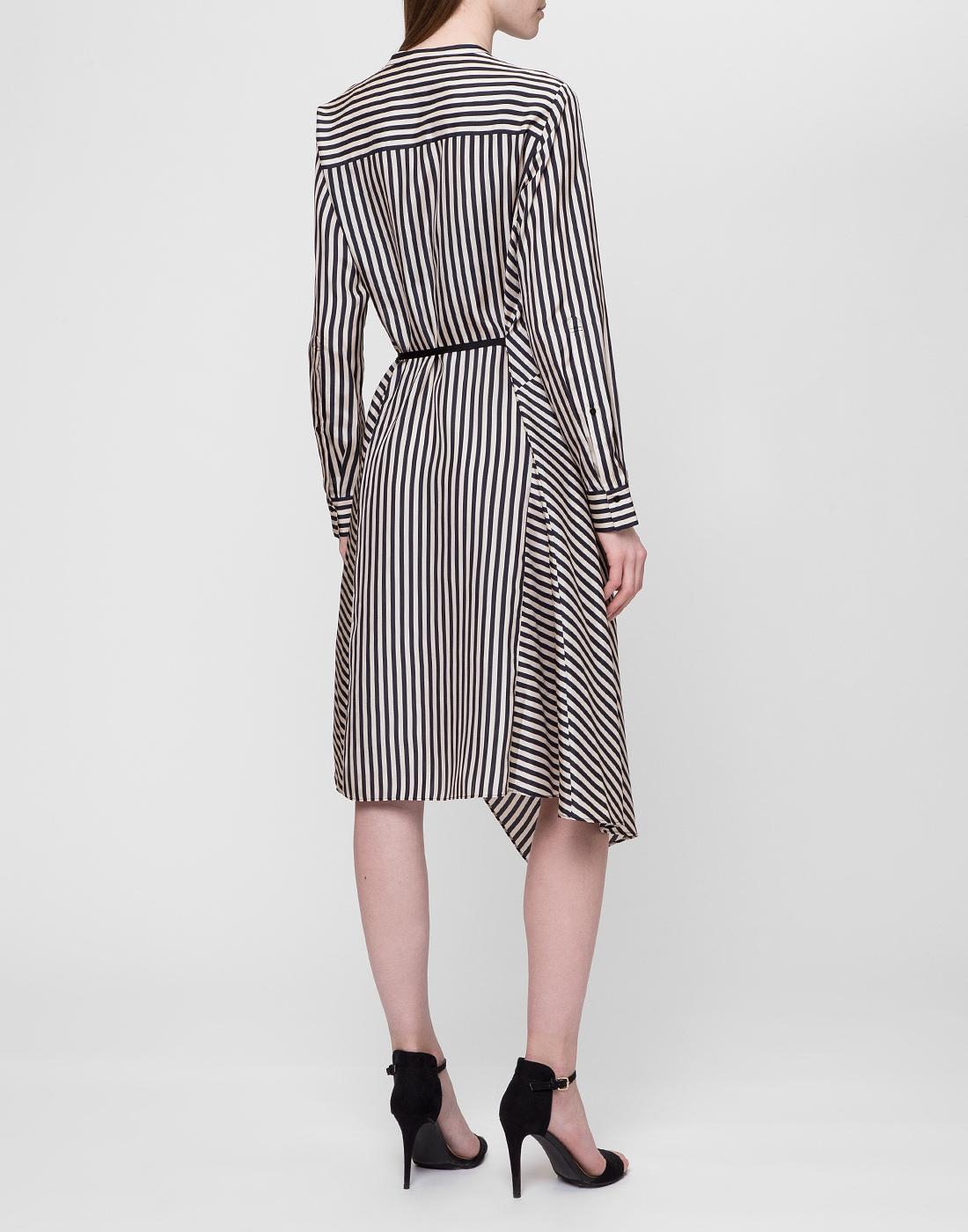 Женское шелковое платье в полоску Dorothee Schumacher S749201/030-4