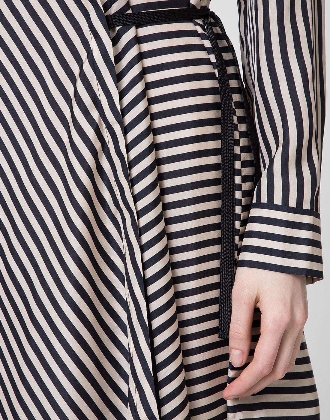 Женское шелковое платье в полоску Dorothee Schumacher S749201/030-6