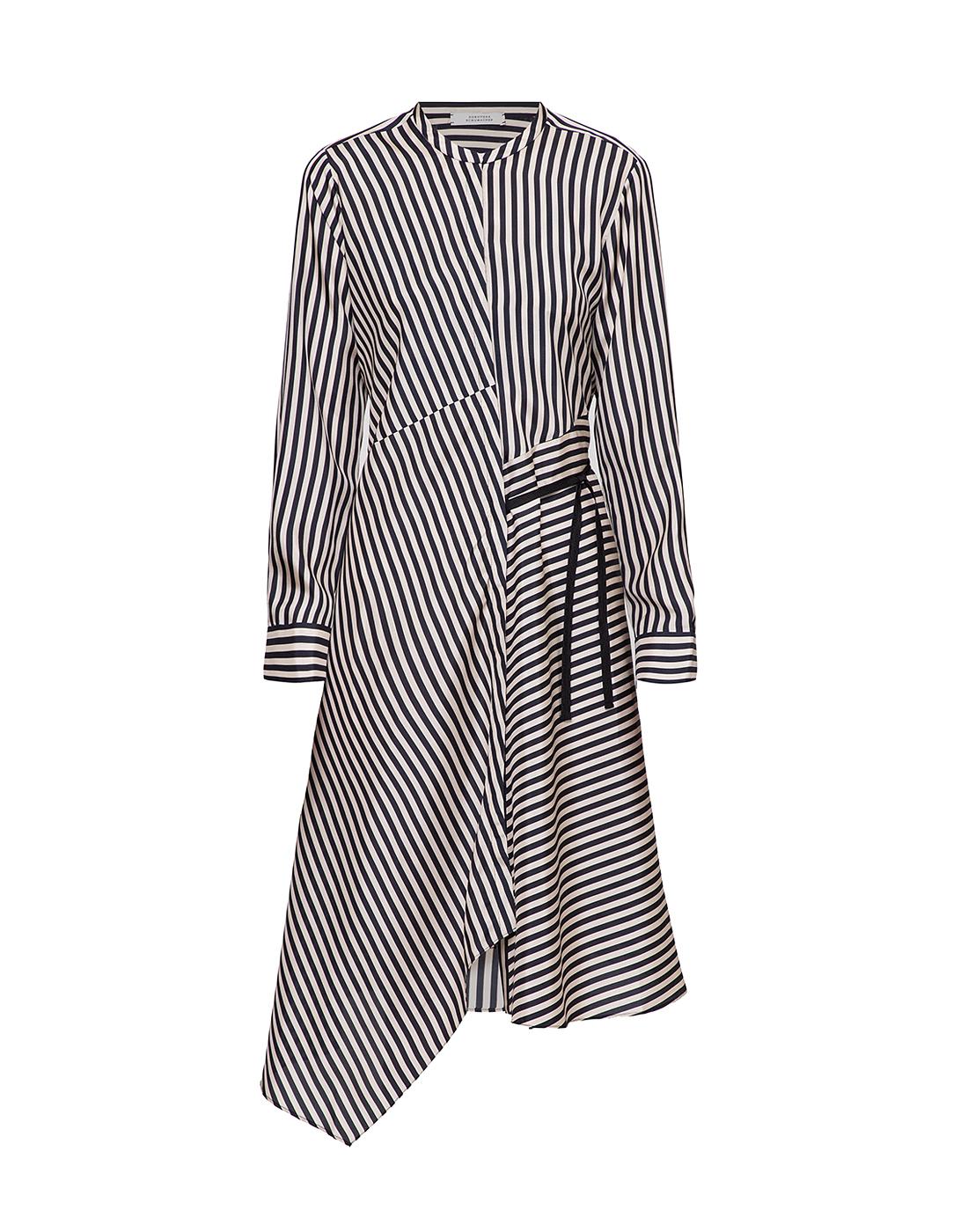 Женское шелковое платье в полоску Dorothee Schumacher S749201/030-1