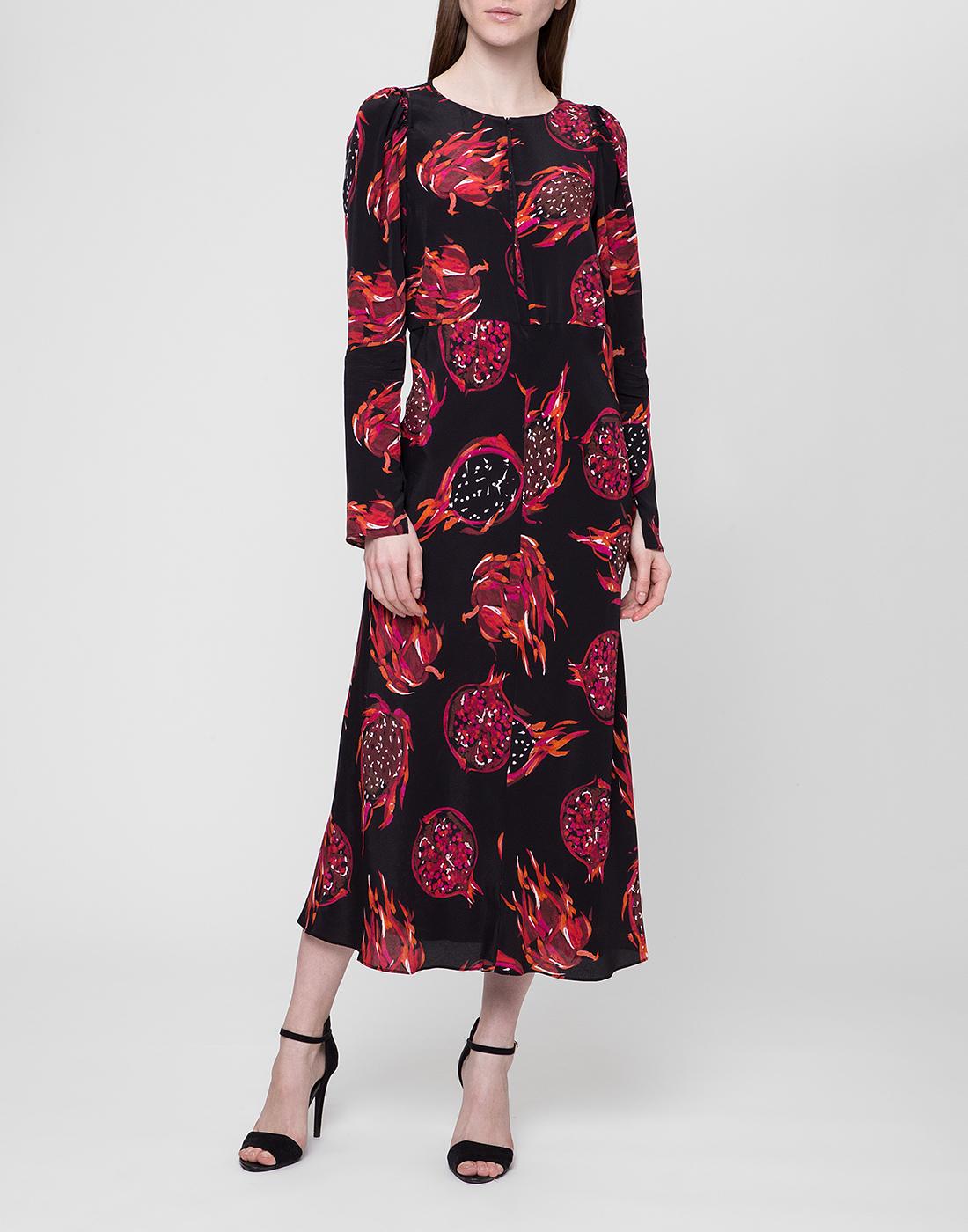 Женское черное платье с узором Dorothee Schumacher S748601/099-2