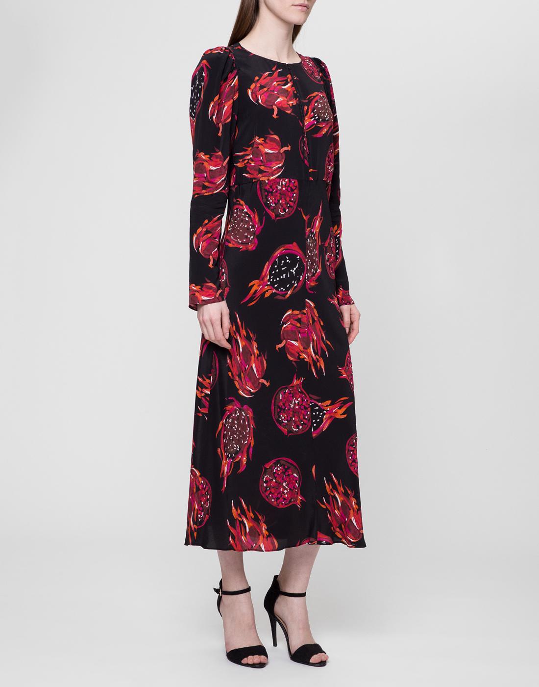 Женское черное платье с узором Dorothee Schumacher S748601/099-3