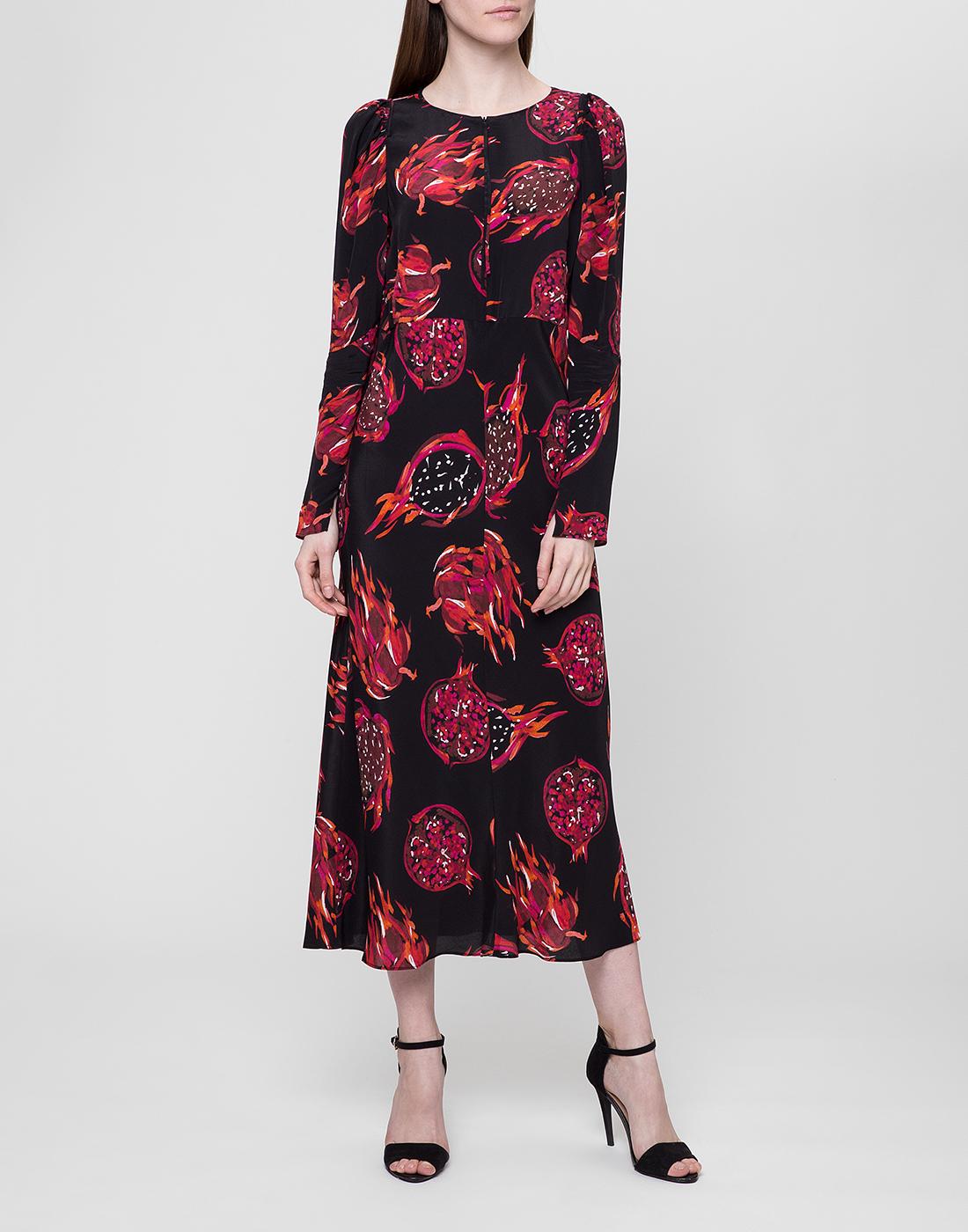 Женское черное платье с узором Dorothee Schumacher S748601/099-5
