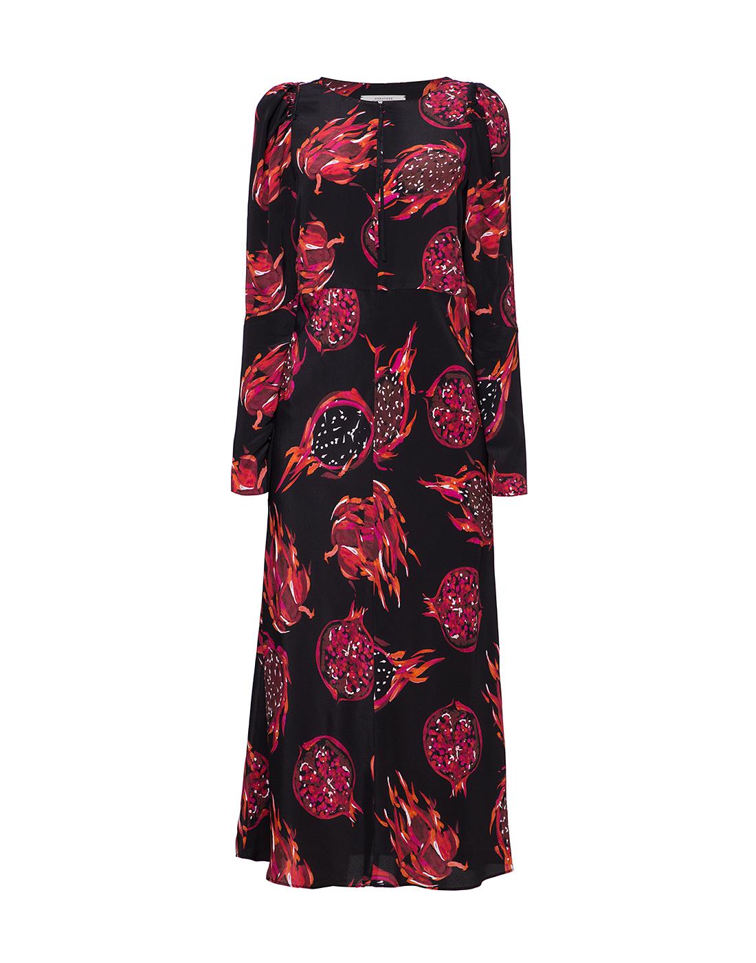 Женское черное платье с узором Dorothee Schumacher S748601/099-1