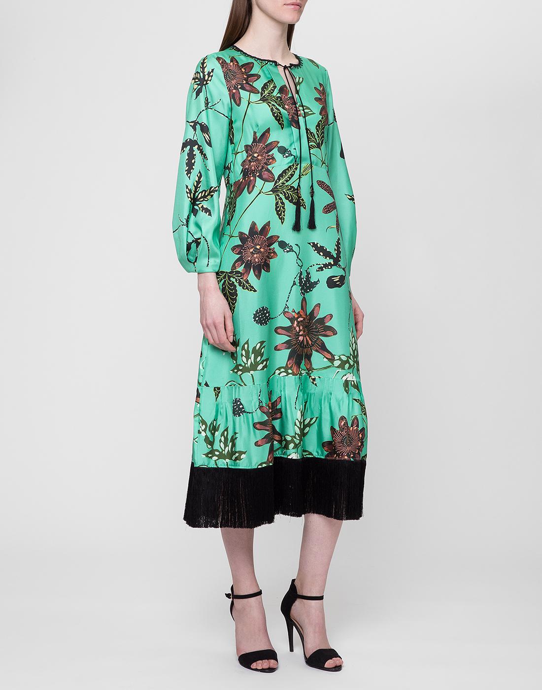 Женское шелковое платье с узором Dorothee Schumacher S749602/059-3